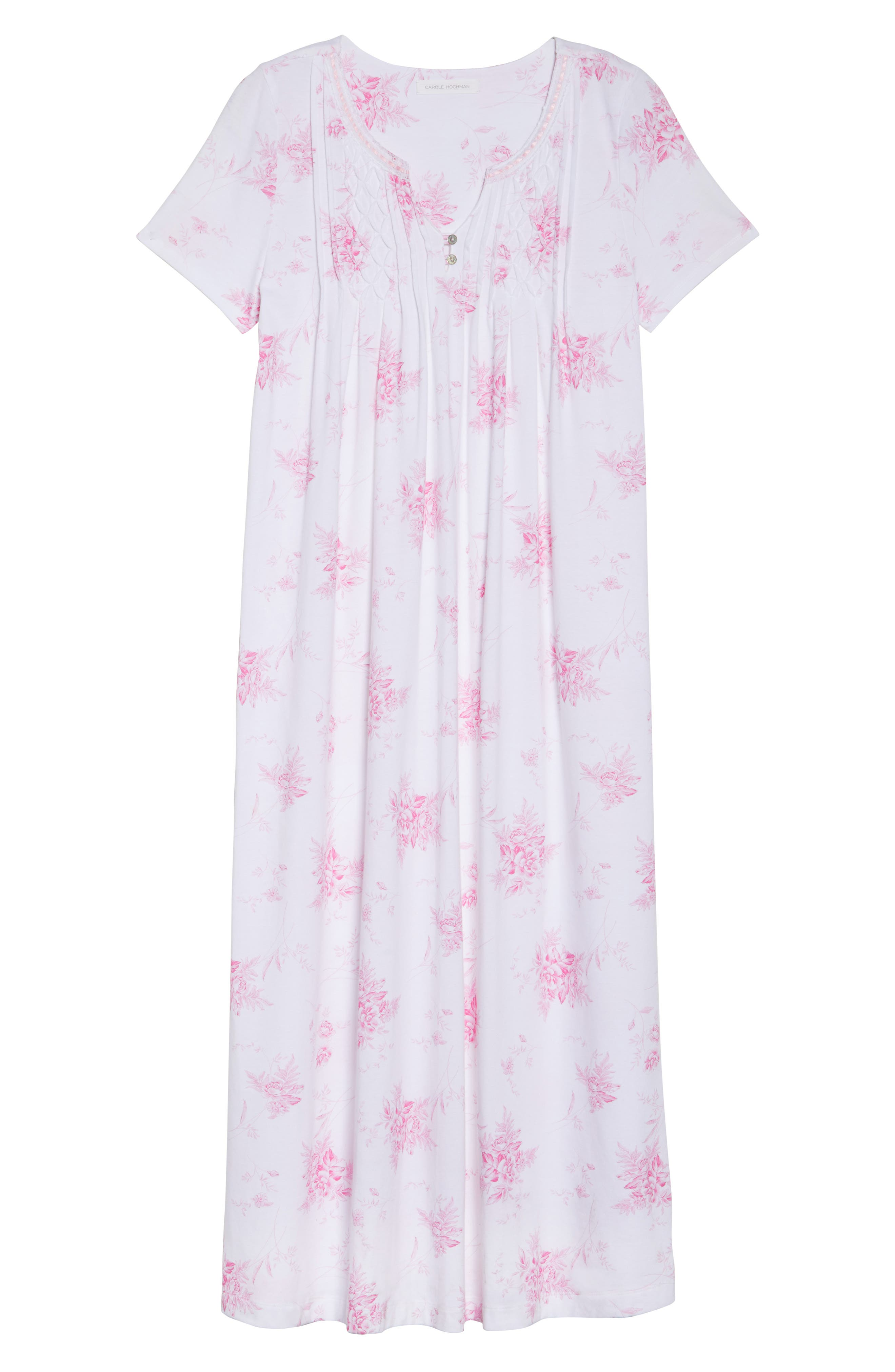 Cotton Jersey Long Nightgown,                             Alternate thumbnail 6, color,                             102
