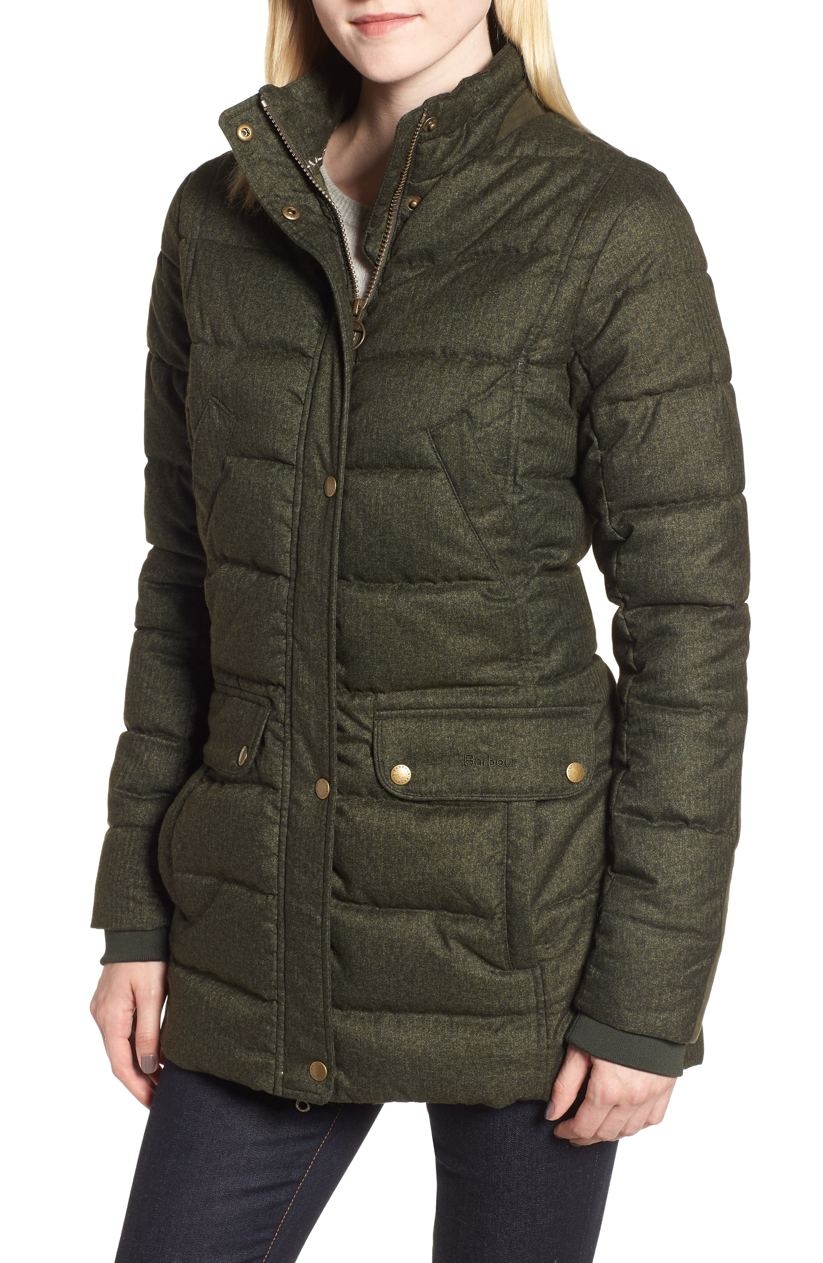 Goldfinch Quilted Jacket,                             Main thumbnail 1, color,                             OLIVE