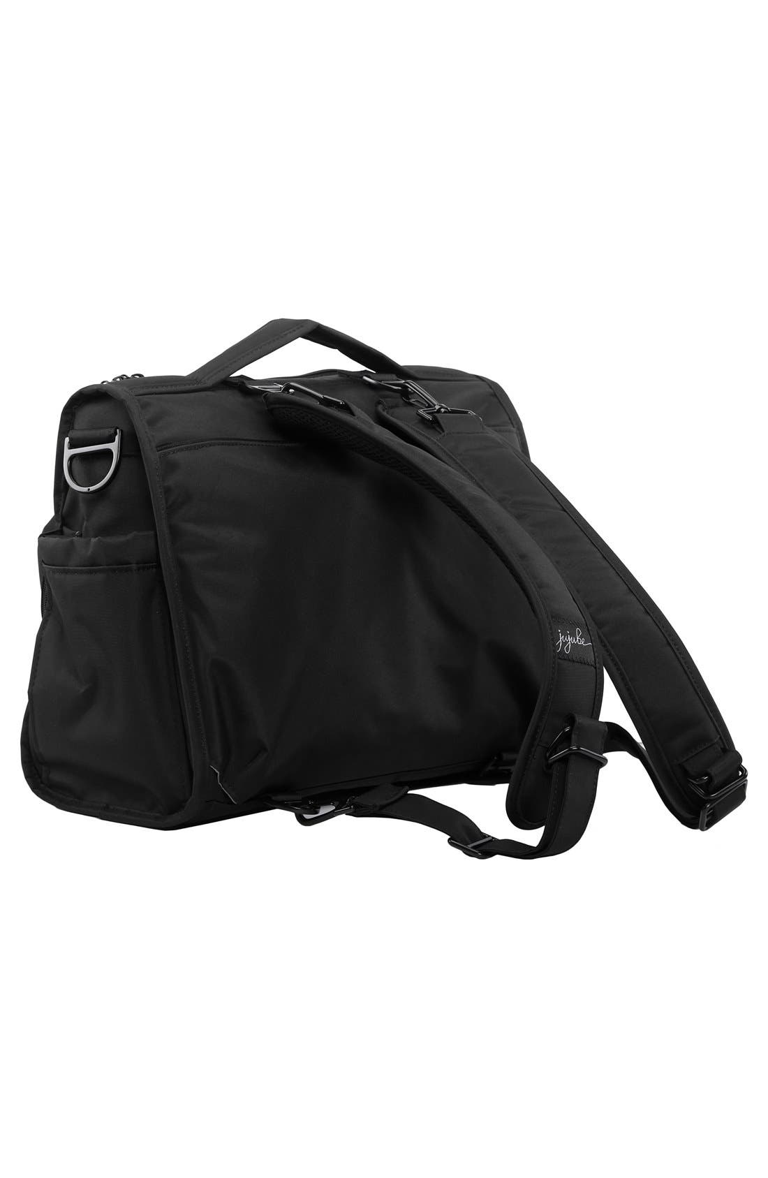 'BFF - Onyx Collection' Diaper Bag,                             Alternate thumbnail 3, color,                             BLACK OUT