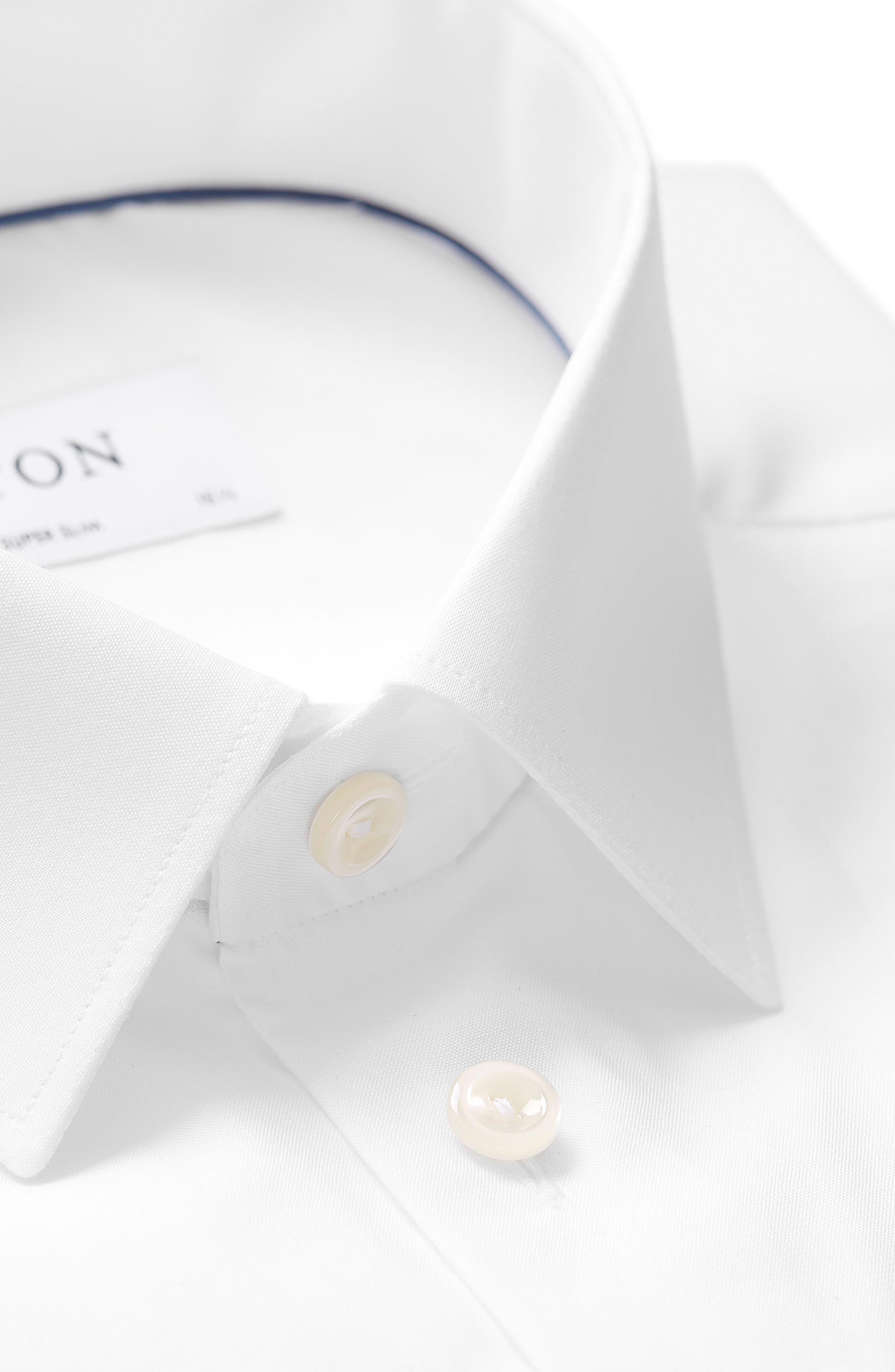 Super Slim Fit Dress Shirt,                             Alternate thumbnail 2, color,                             WHITE