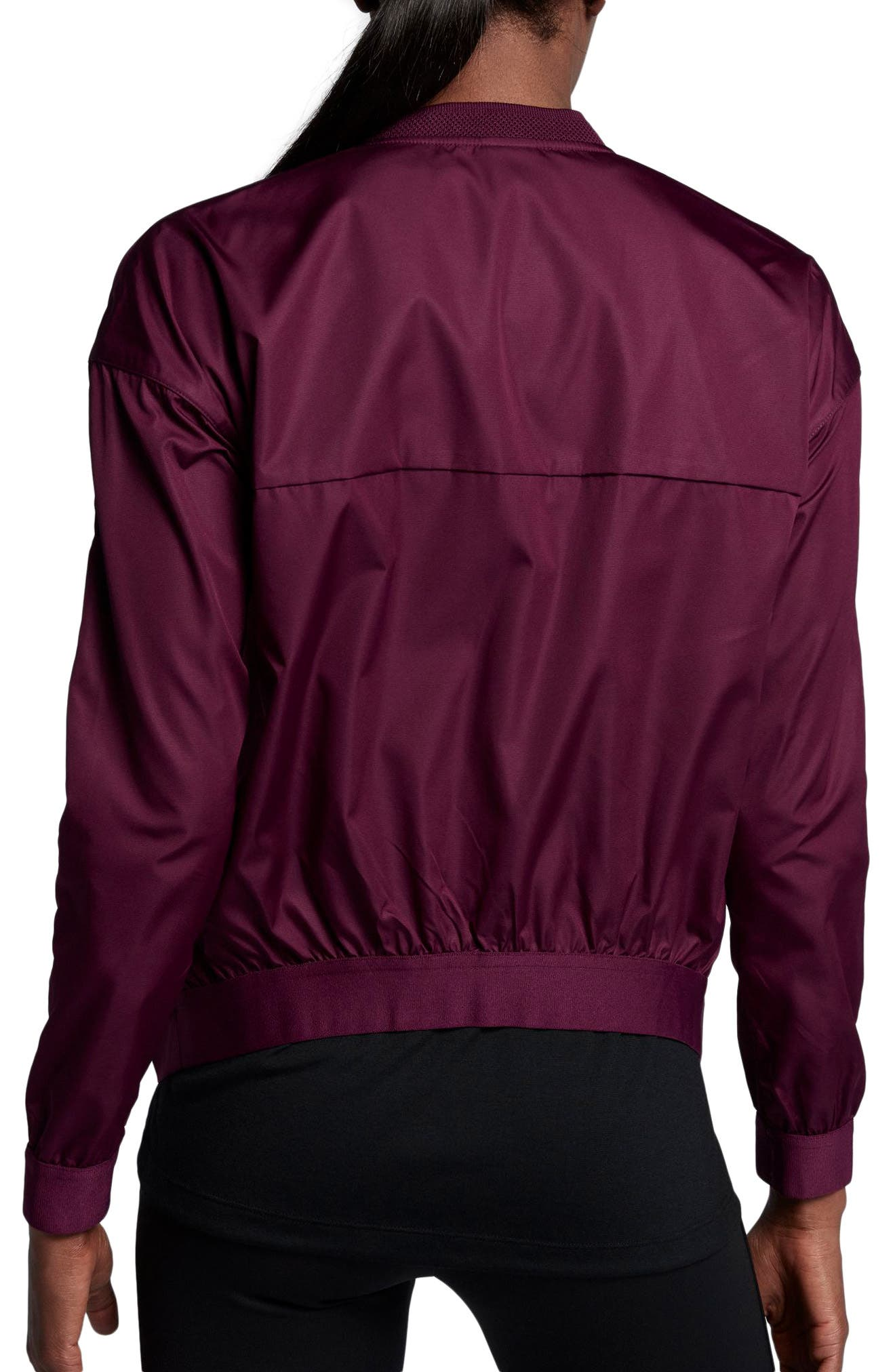 Court Water-Resistant Bomber Jacket,                             Alternate thumbnail 4, color,