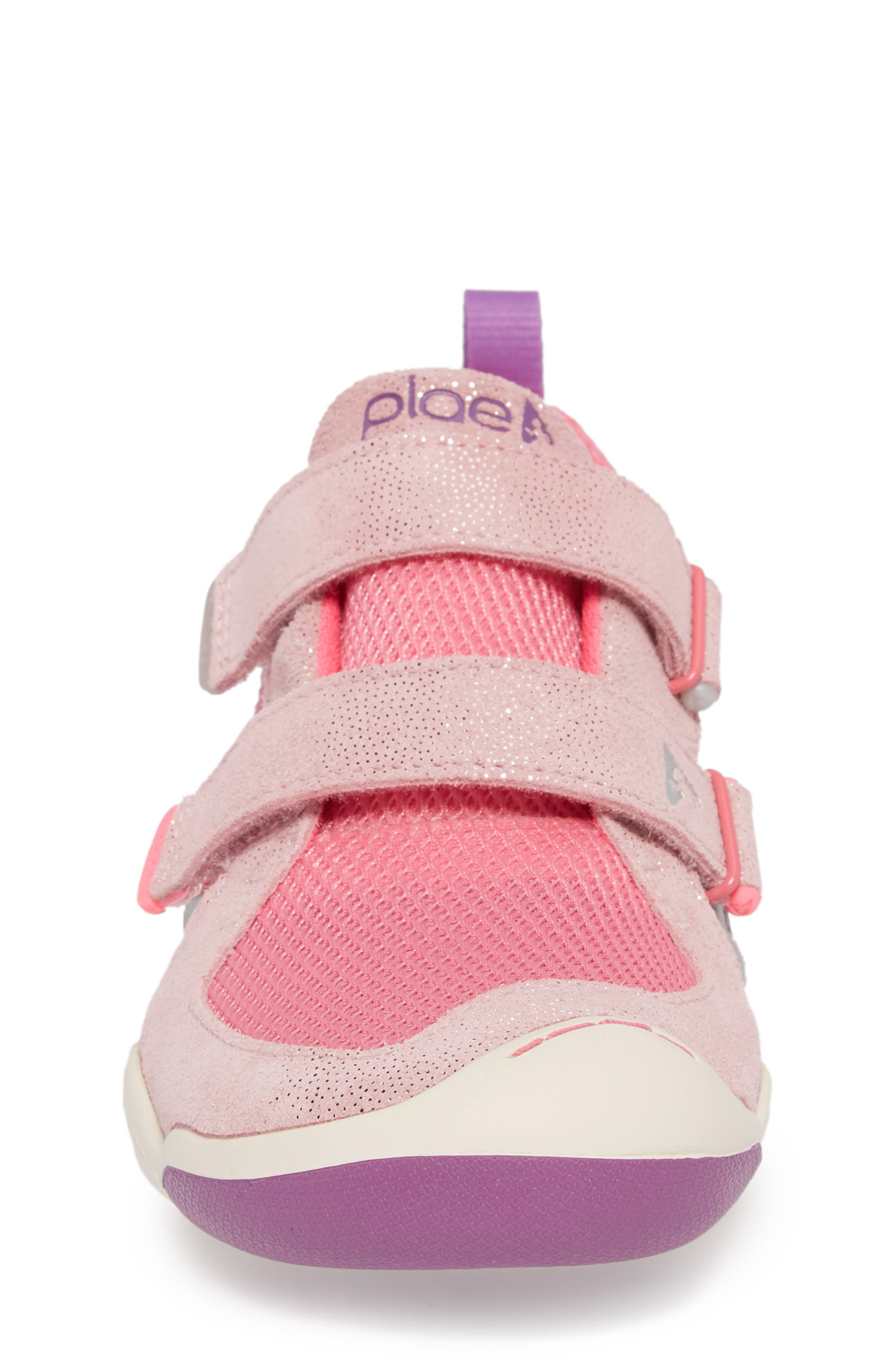 PLAE,                             'Ty' Customizable Sneaker,                             Alternate thumbnail 4, color,                             PINK/ PINK/ DEWBERRY