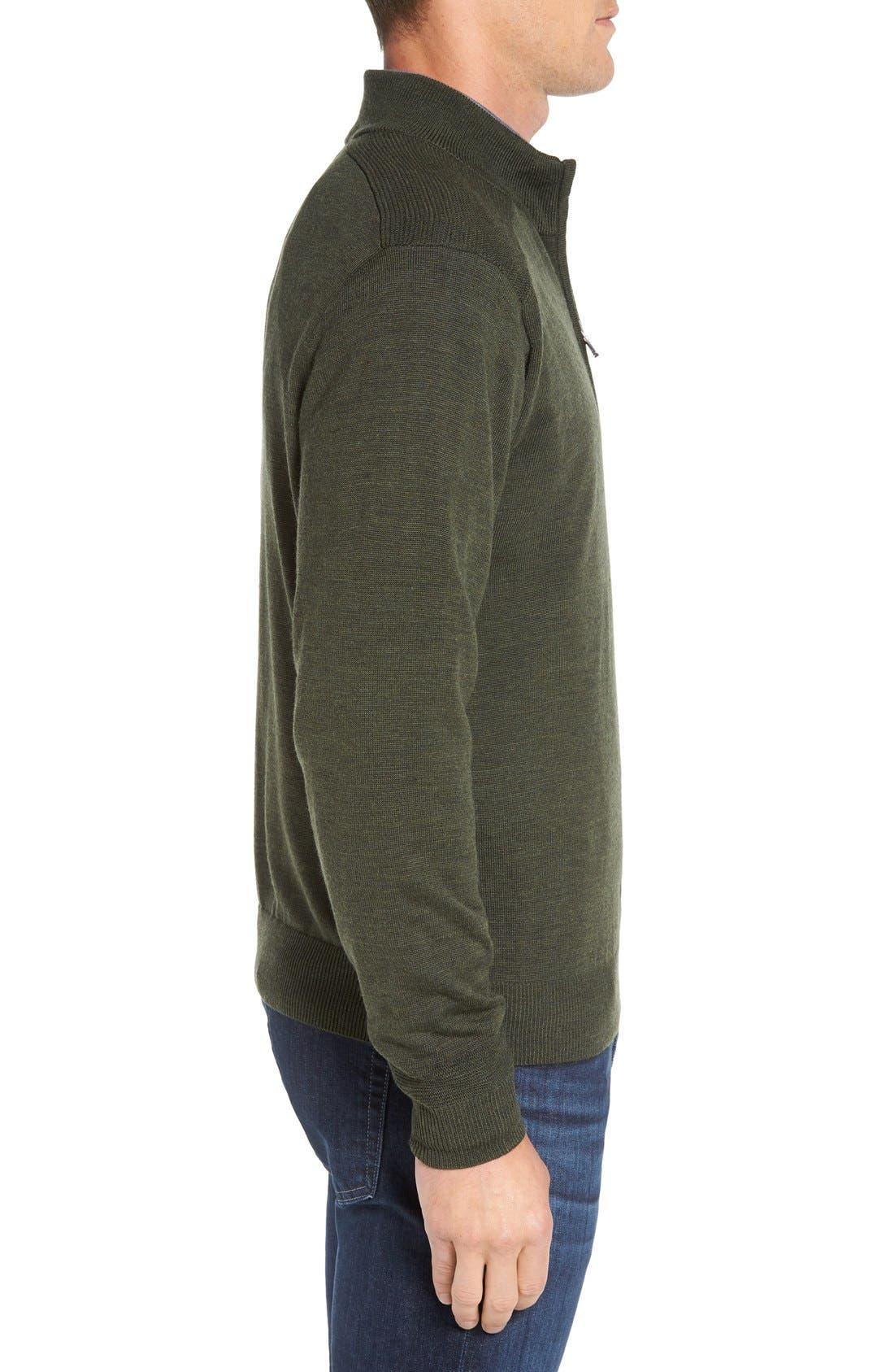 Douglas Quarter Zip Wool Blend Sweater,                             Alternate thumbnail 15, color,