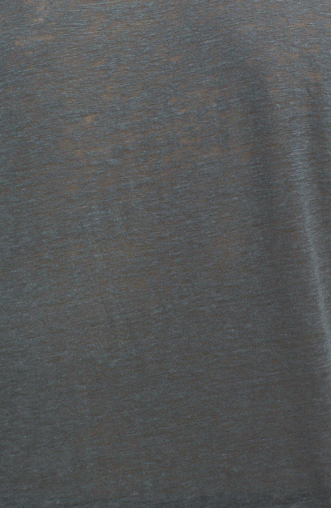 Collection Linen Henley Shirt,                             Alternate thumbnail 3, color,                             053