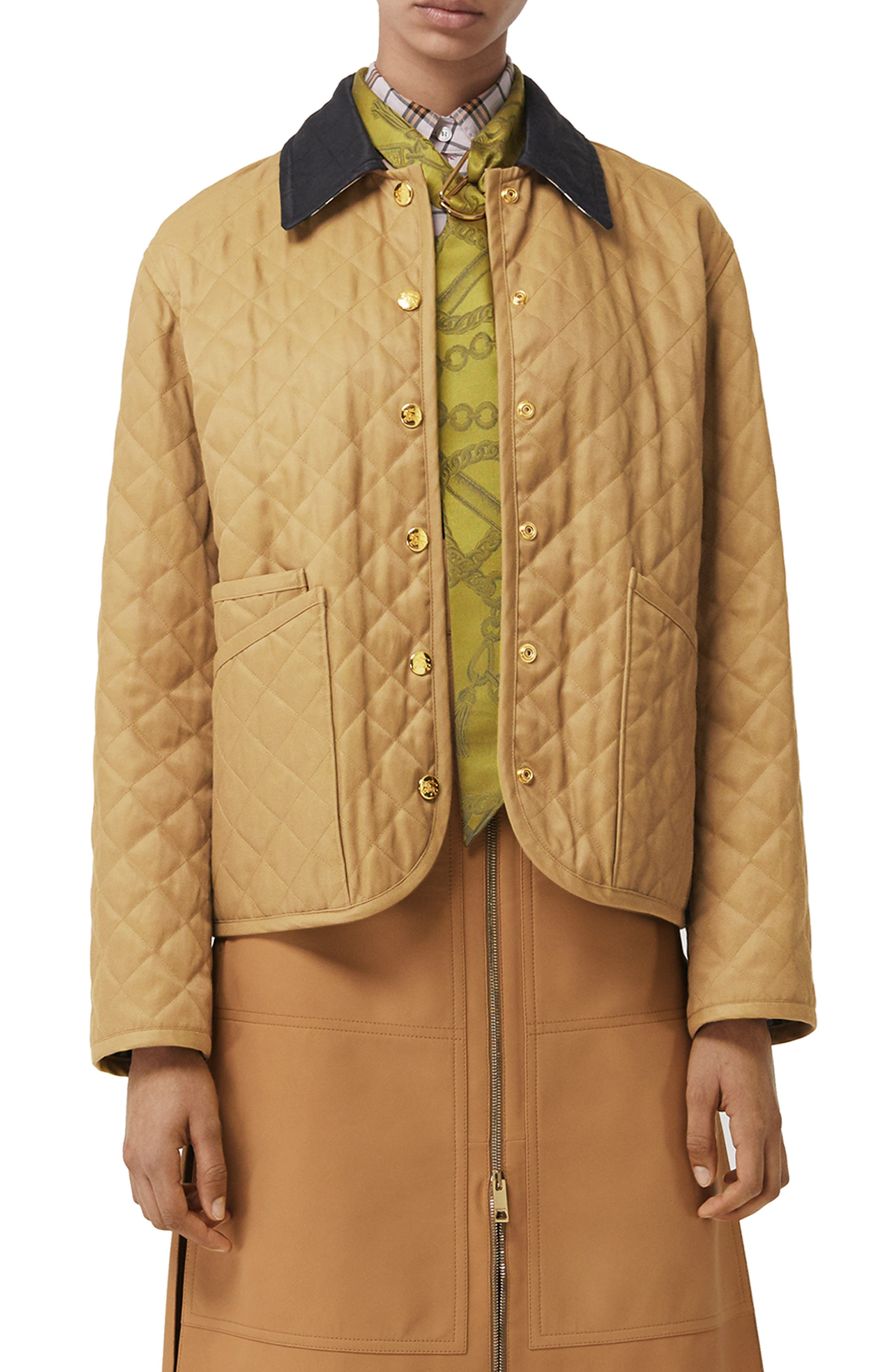 Dranefeld Quilted Jacket, Main, color, CAMEL
