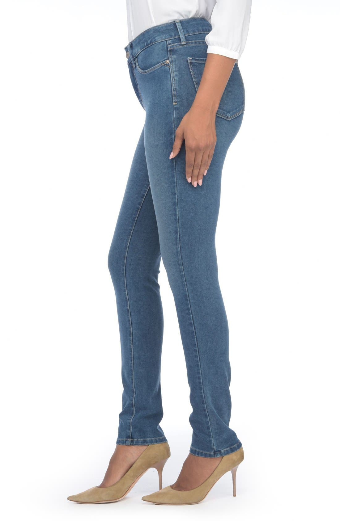 Alina Colored Stretch Skinny Jeans,                             Alternate thumbnail 155, color,