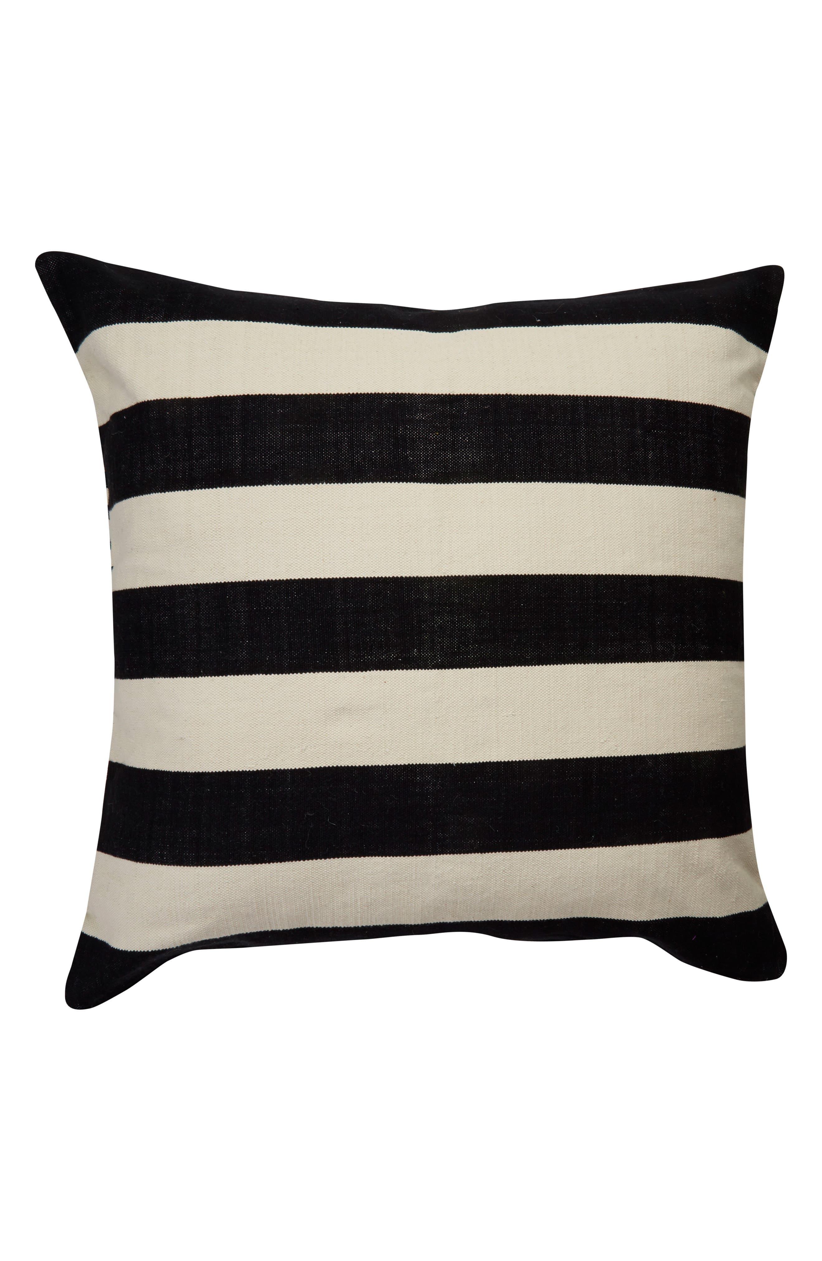 double stripe accent pillow,                         Main,                         color, 001