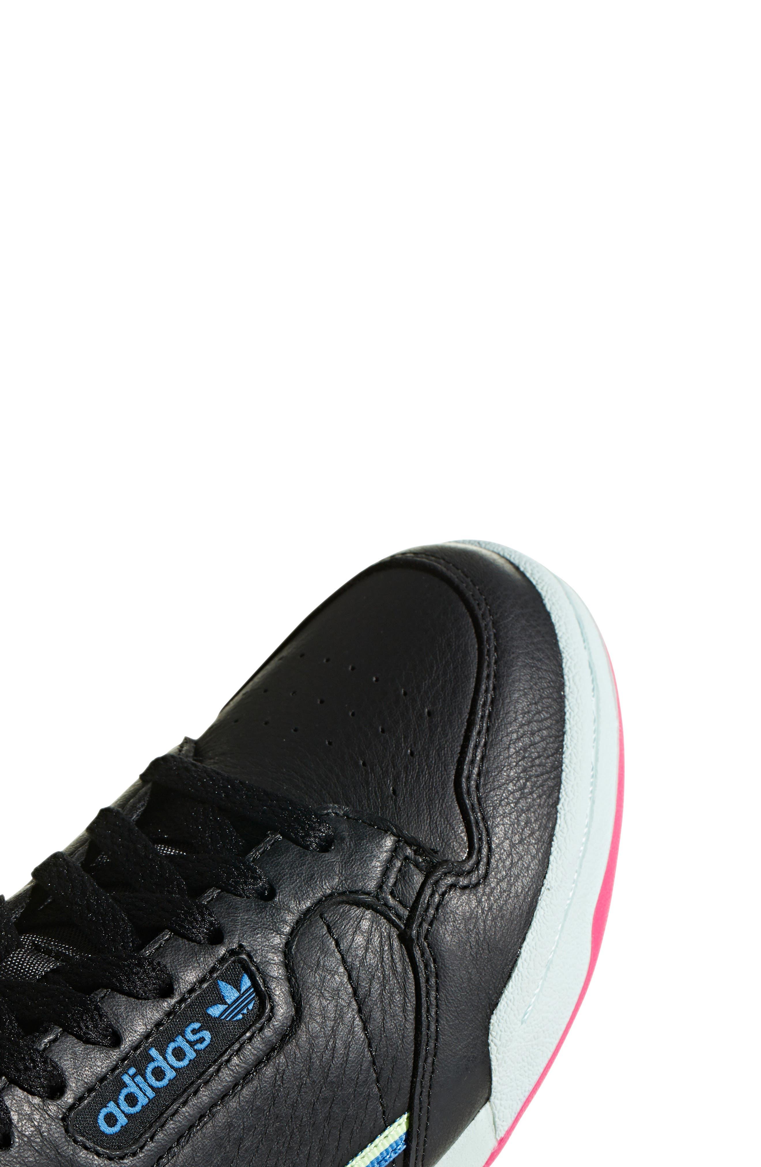 ADIDAS,                             Continental 80 Sneaker,                             Alternate thumbnail 6, color,                             BLACK/ HI-RES YELLOW/ BLUE