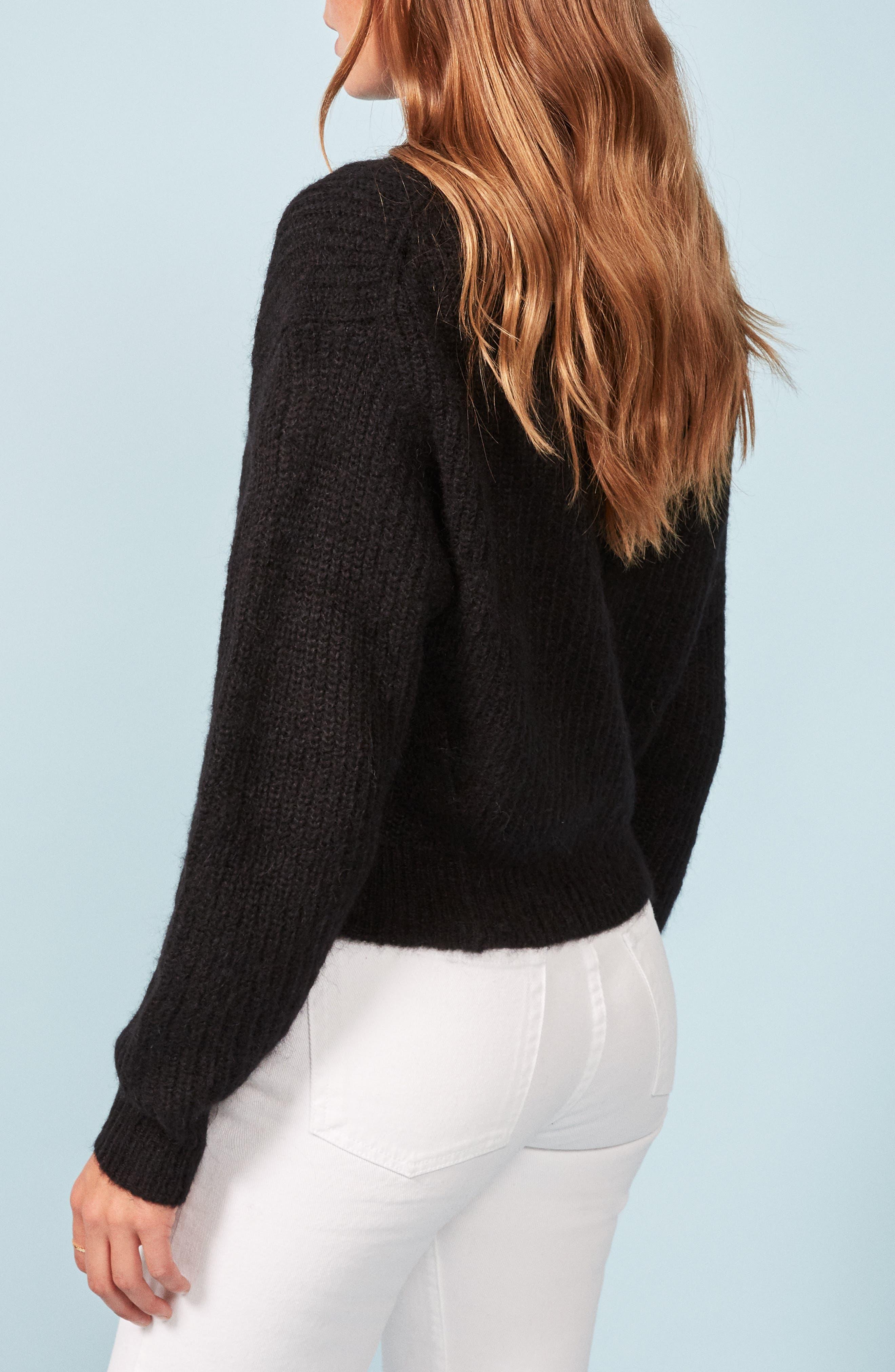 Finn Sweater,                             Alternate thumbnail 3, color,                             BLACK