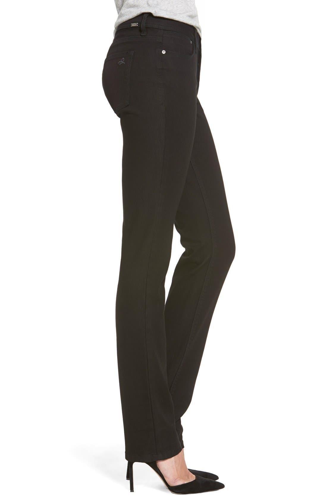 'Coco' Curvy Straight Leg Jeans,                             Alternate thumbnail 3, color,                             RIKER