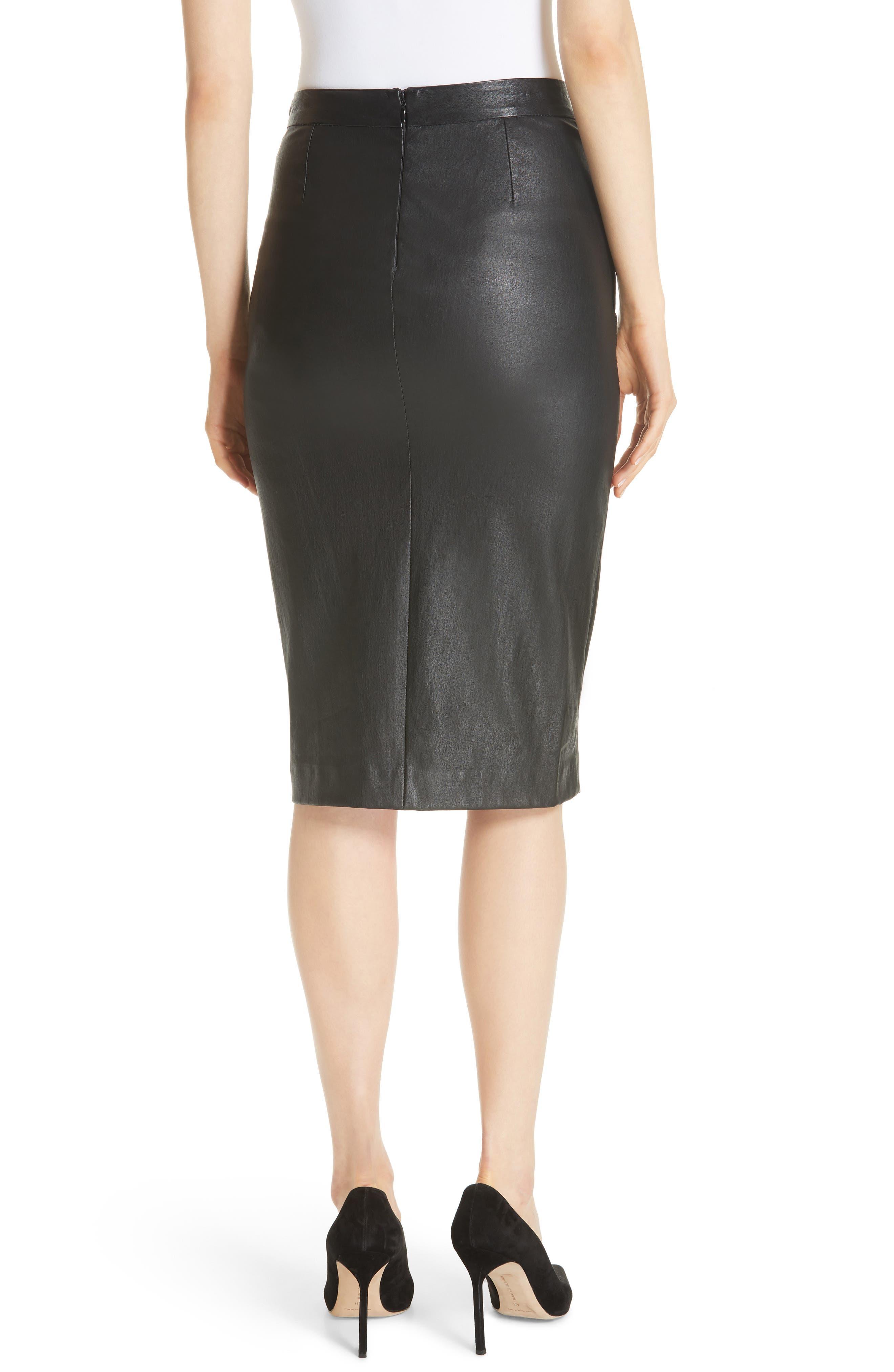 Leather Pencil Skirt,                             Alternate thumbnail 2, color,                             001
