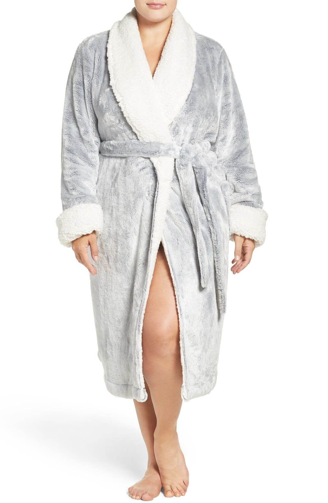 Frosted Plush Robe,                             Main thumbnail 4, color,