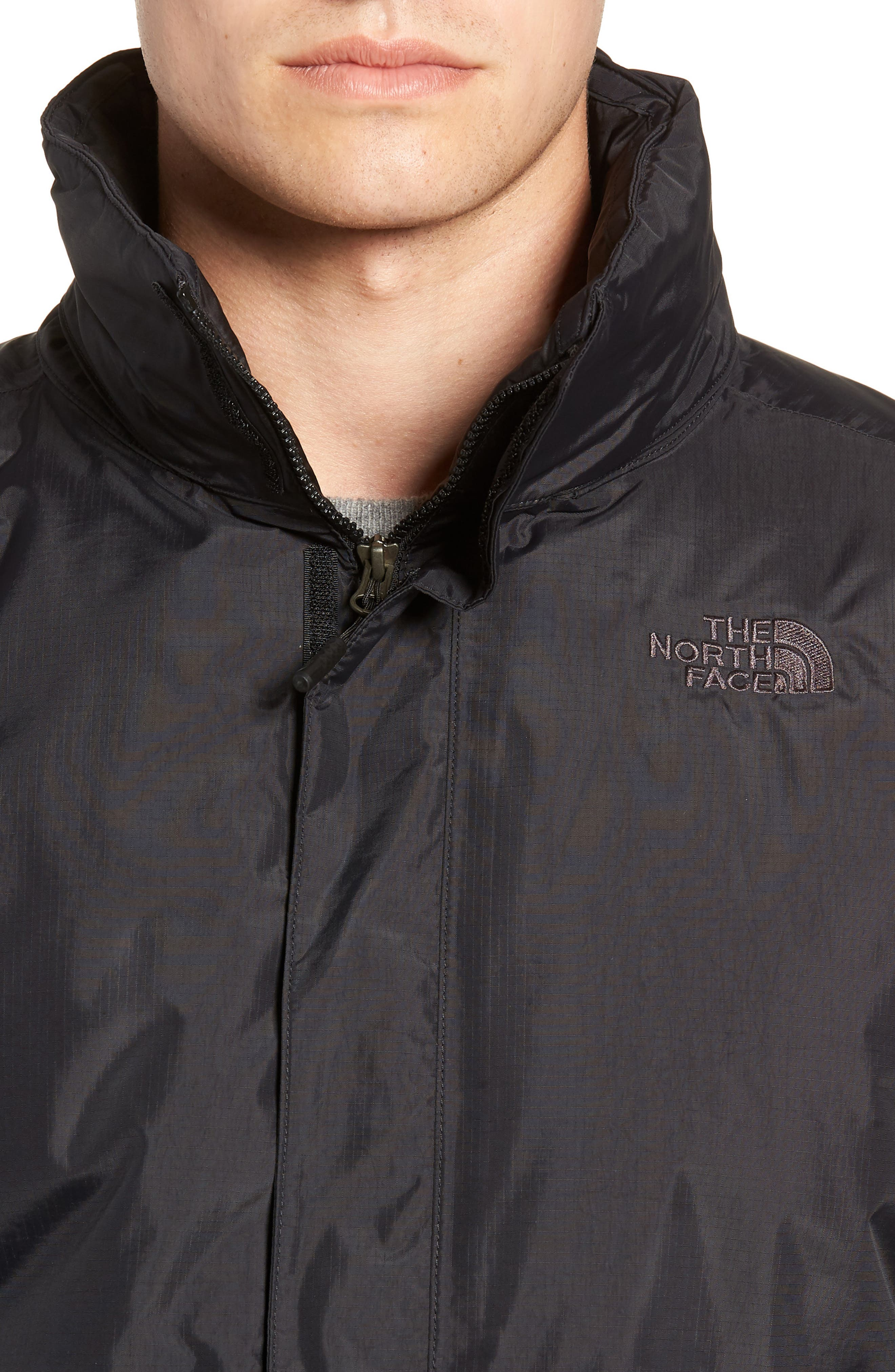 Resolve Waterproof Jacket,                             Alternate thumbnail 4, color,                             TNF BLACK