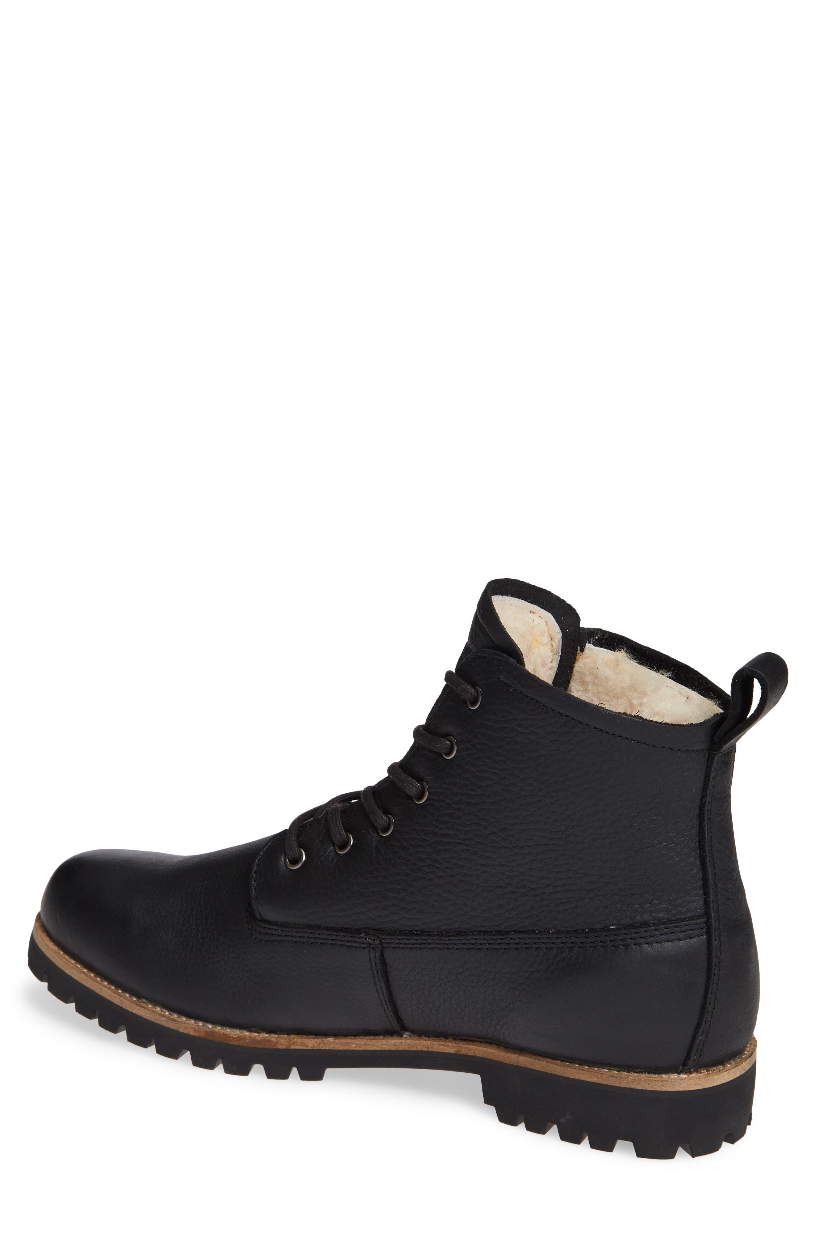 OM60 Waterproof Genuine Shearling Boot,                             Alternate thumbnail 2, color,                             BLACK