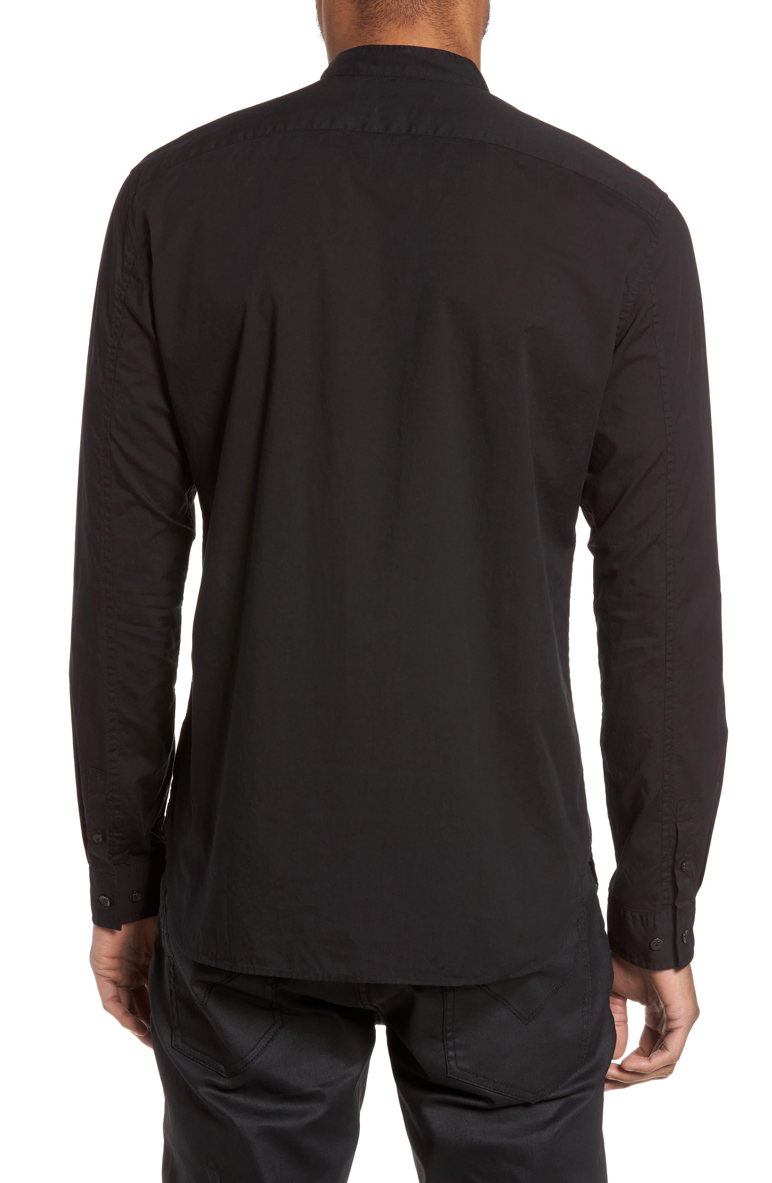 Trim Fit Bib Front Sport Shirt,                             Alternate thumbnail 2, color,                             001