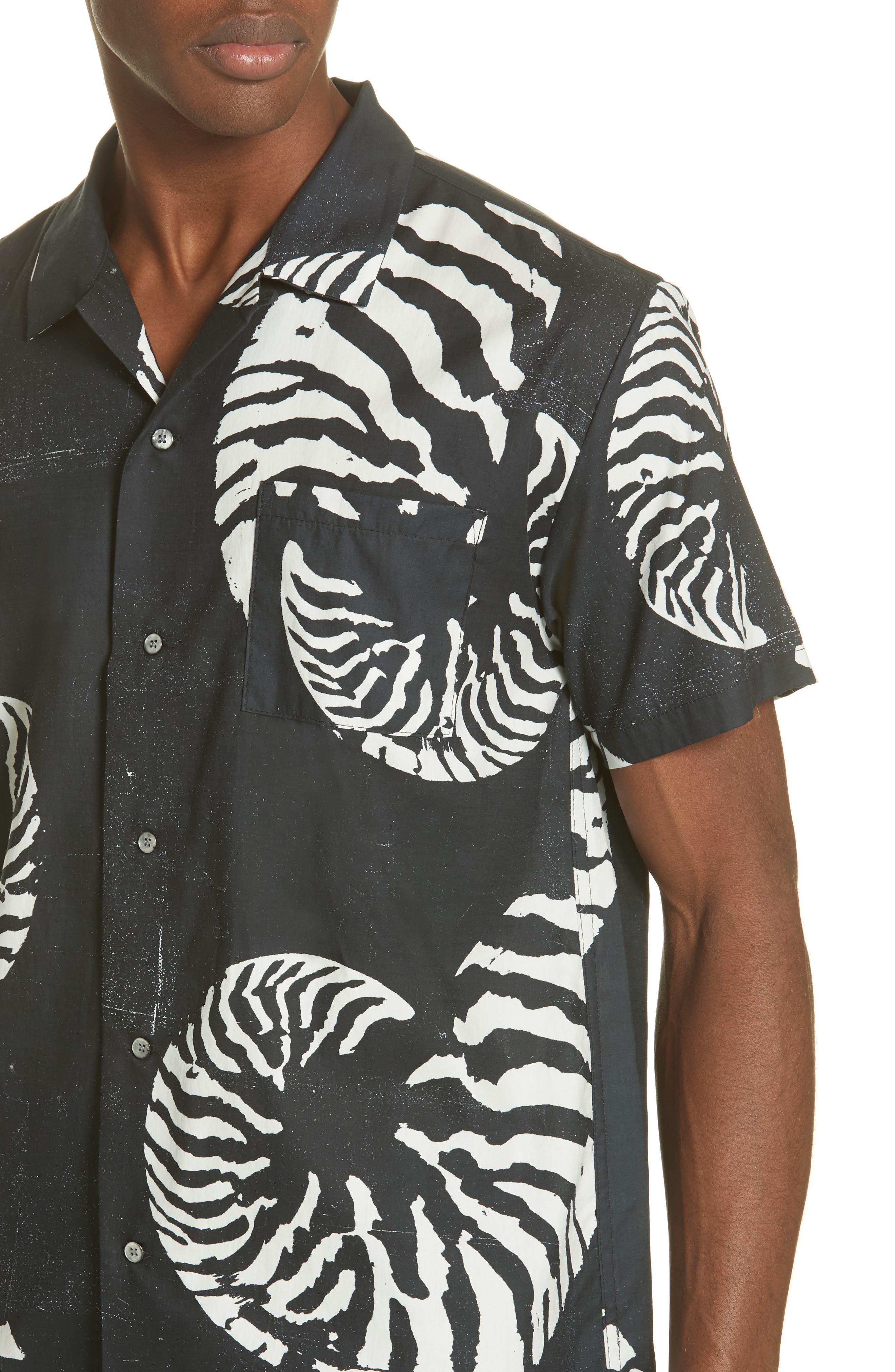 Beach House Print Camp Shirt,                             Alternate thumbnail 2, color,                             WHITE