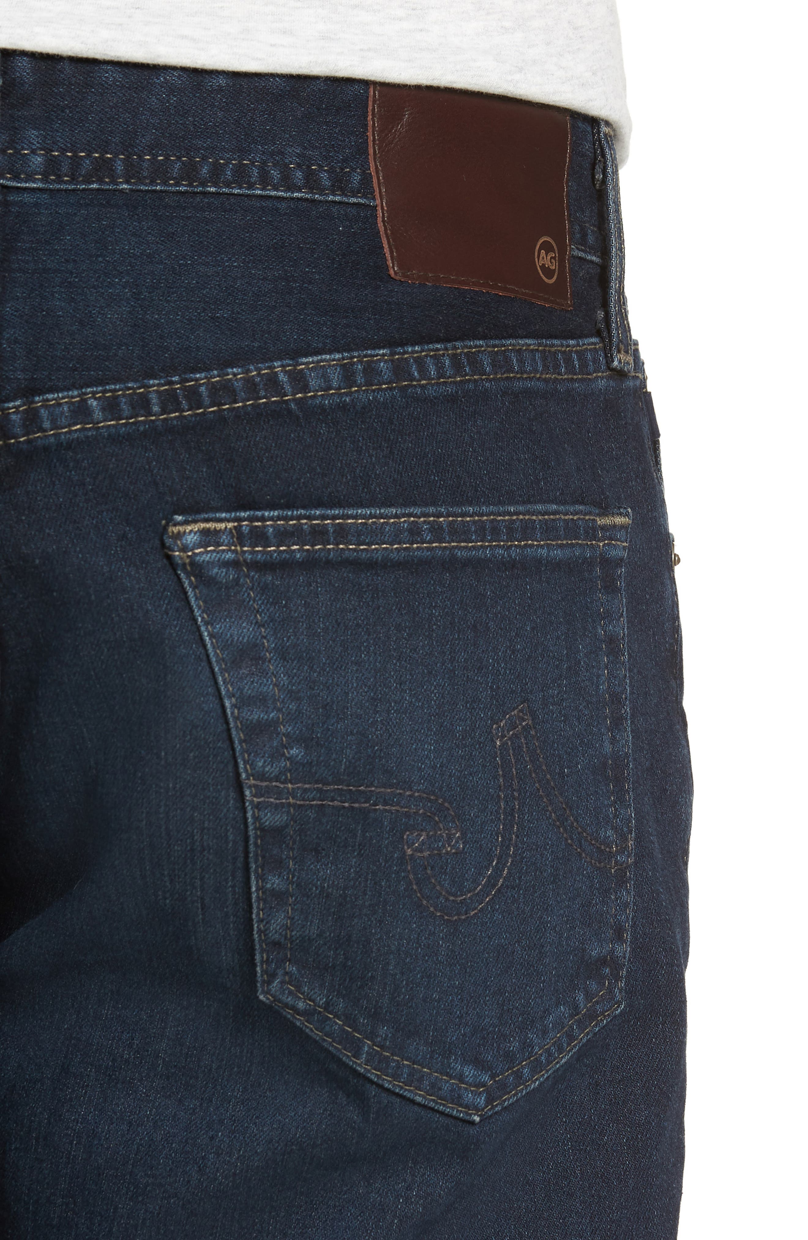 Everett Slim Straight Fit Jeans,                             Alternate thumbnail 4, color,                             SHADOW MOUNTAIN