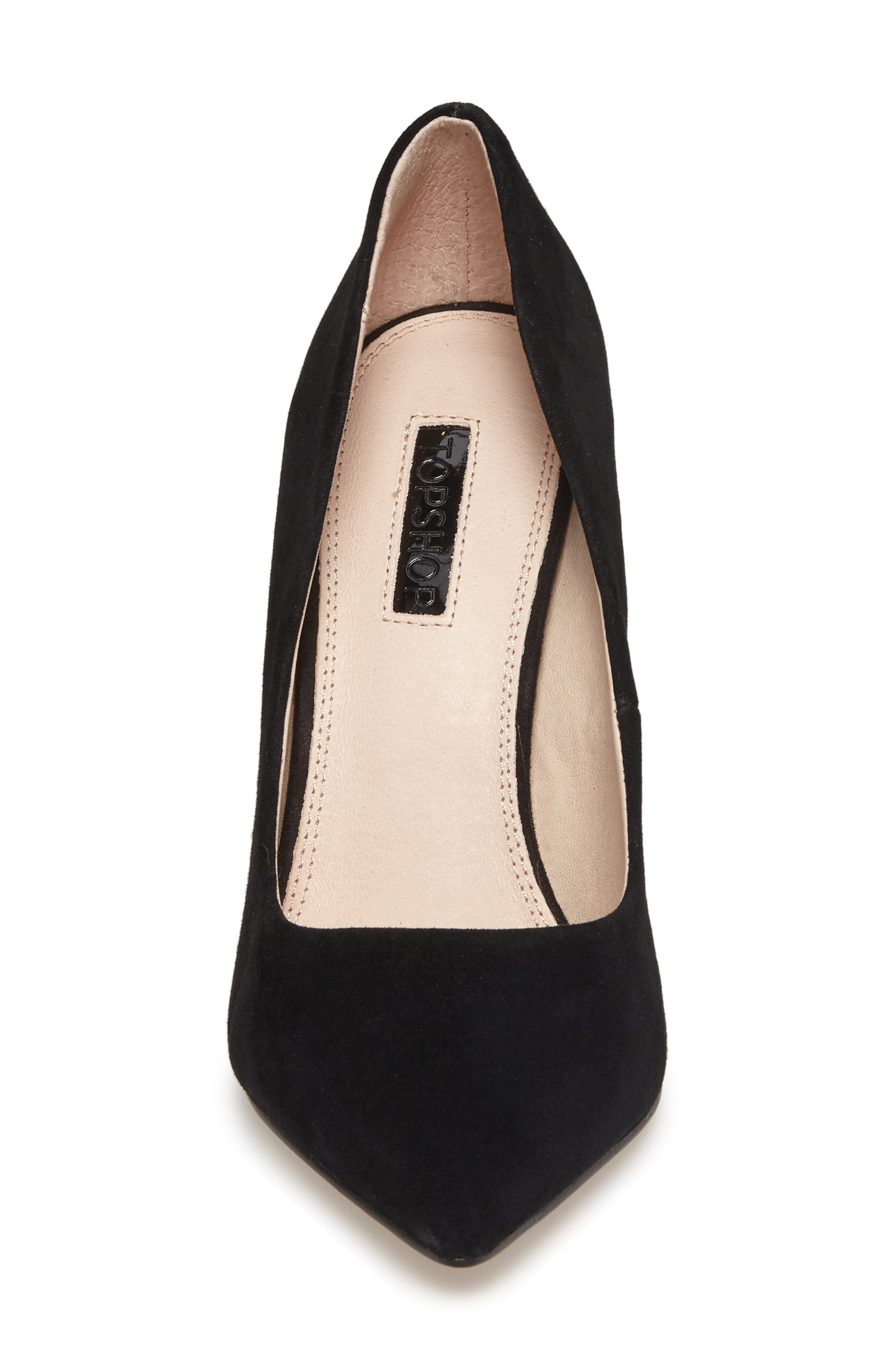 TOPSHOP,                             Grammer Pointy Toe Pump,                             Alternate thumbnail 4, color,                             001