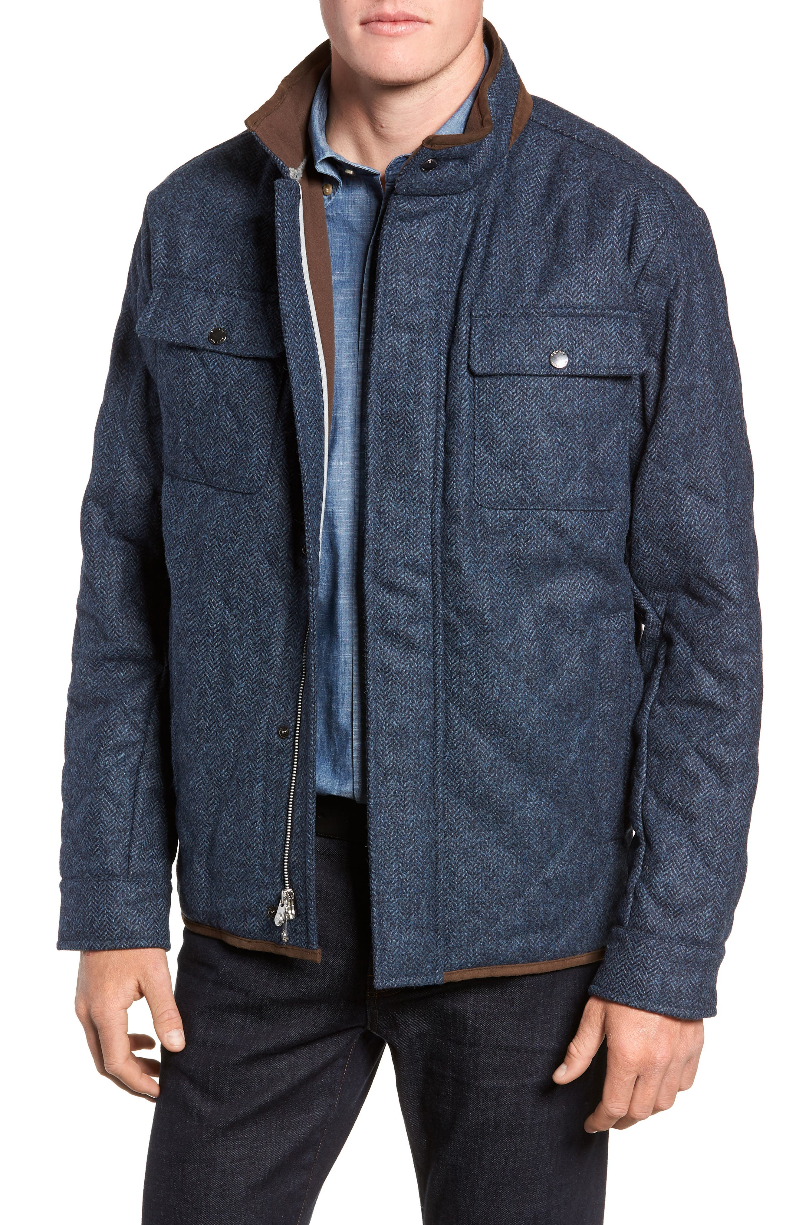 Mountain Quilted Shirt Jacket,                         Main,                         color, ATLANTIC BLUE