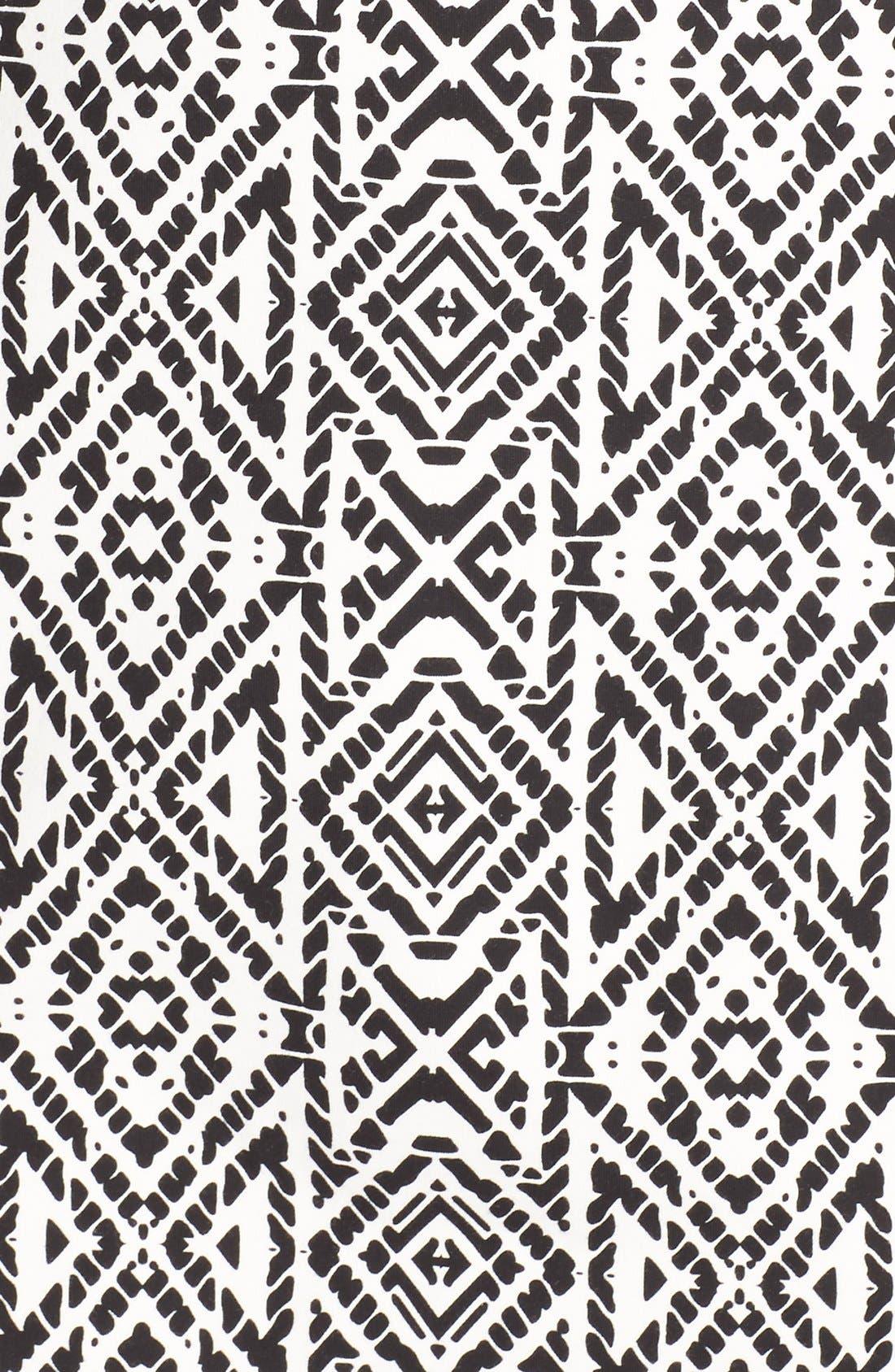 'Joslyn' Sleeveless Seam Detail Ponte Sheath Dress,                             Alternate thumbnail 6, color,                             007