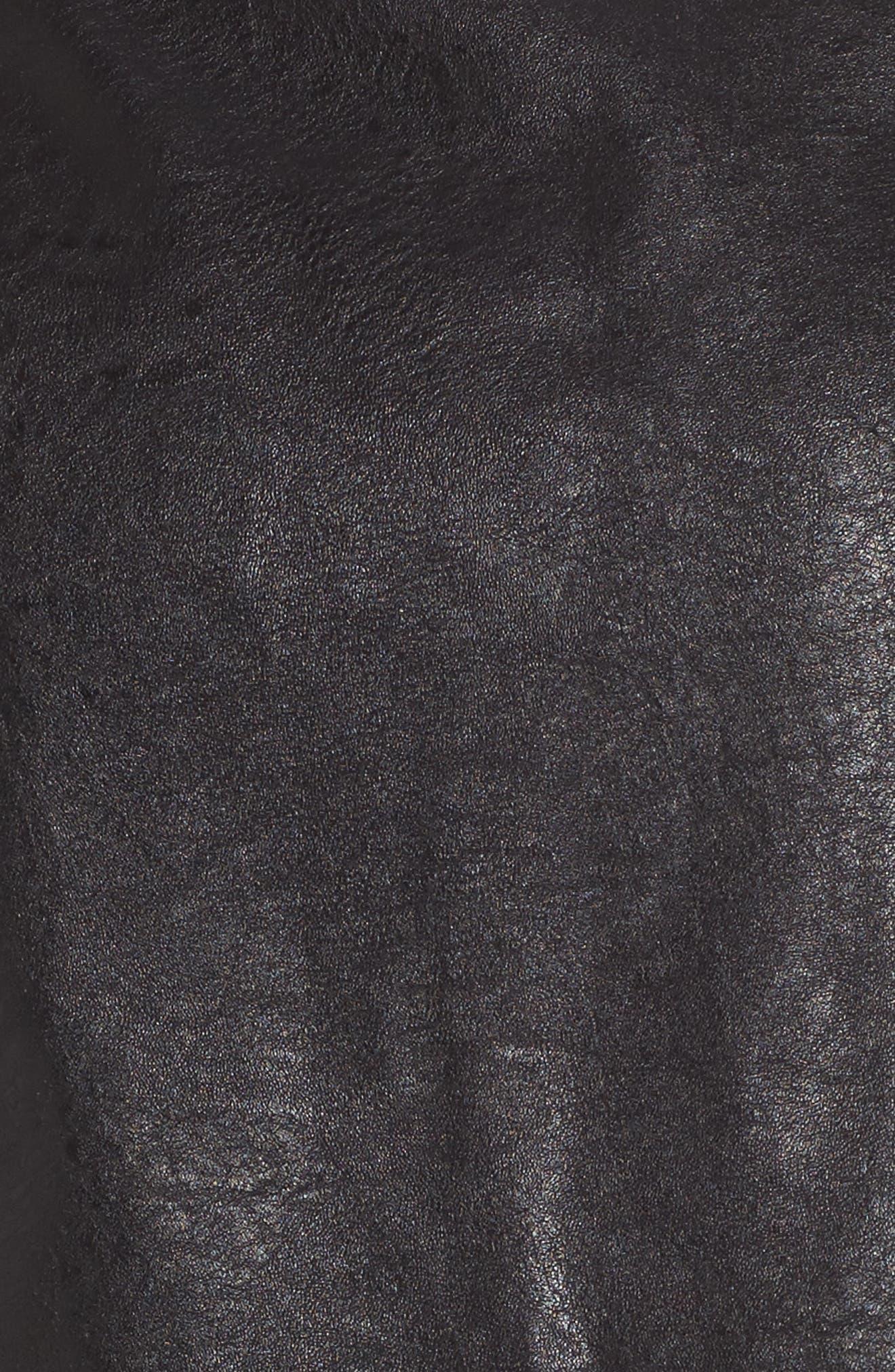 Envoy Faux Leather Moto Skirt,                             Alternate thumbnail 5, color,