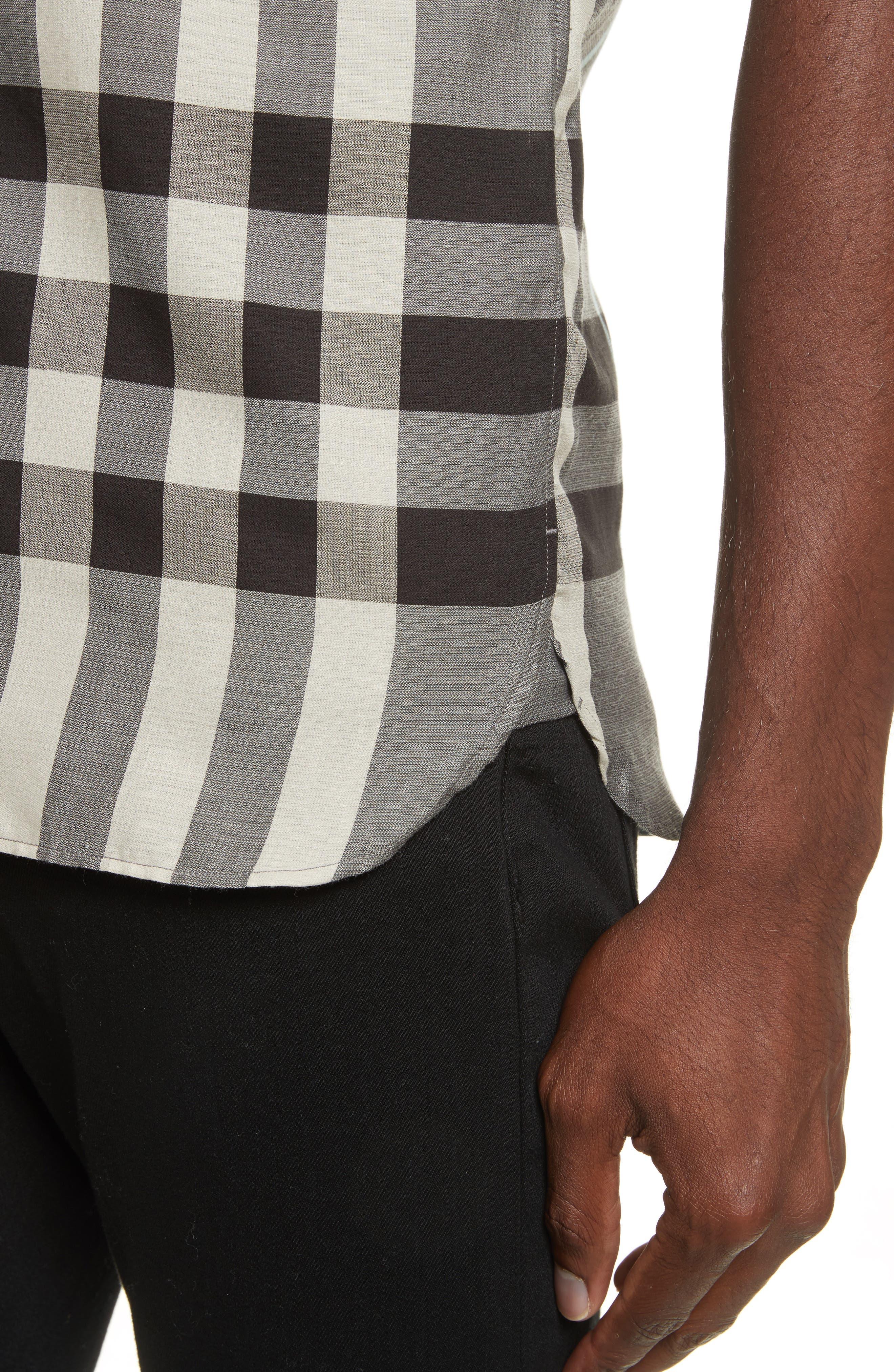 Moore Regular Fit Plaid Short Sleeve Sport Shirt,                             Alternate thumbnail 4, color,                             053
