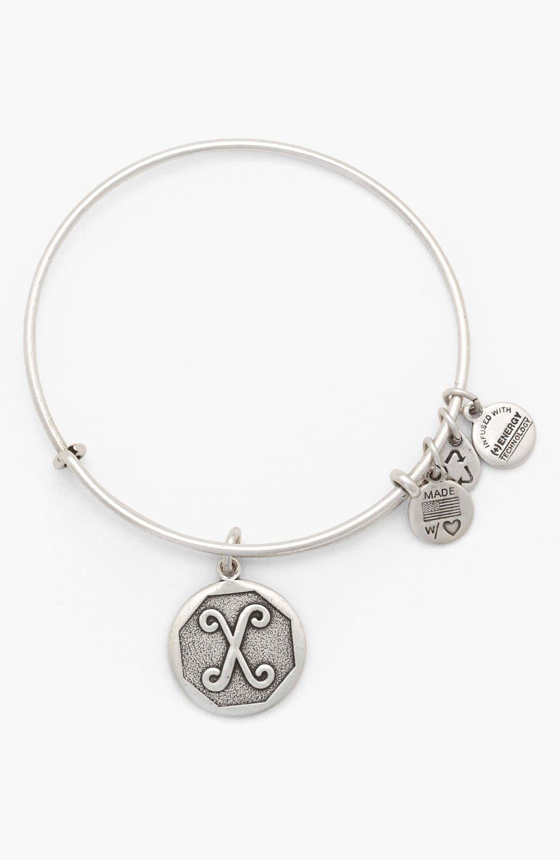 'Initial' Adjustable Wire Bangle,                             Main thumbnail 24, color,
