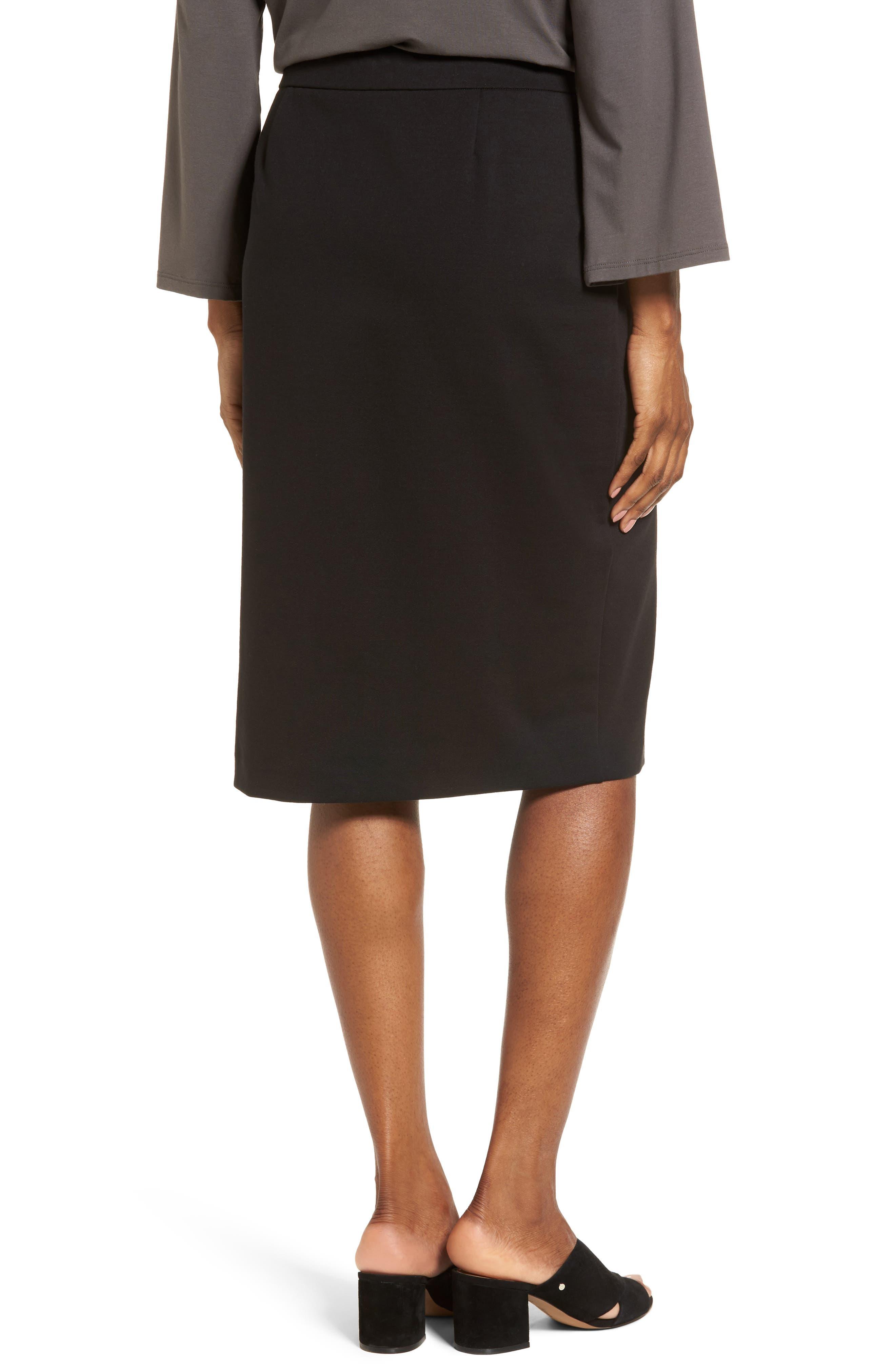 Tencel<sup>®</sup> Blend Pencil Skirt,                             Alternate thumbnail 2, color,                             001