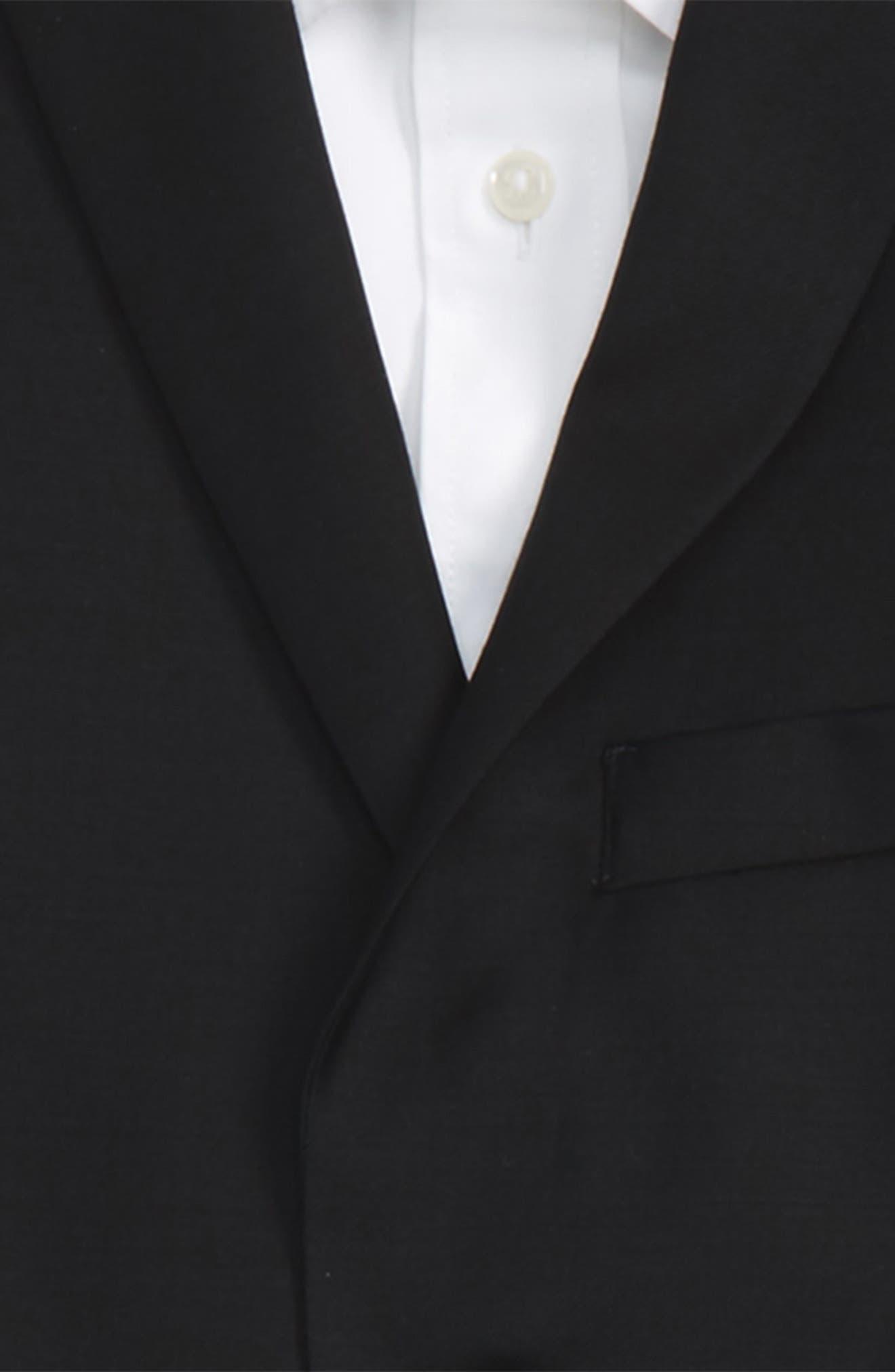 Black Wool Suit,                             Alternate thumbnail 2, color,                             001