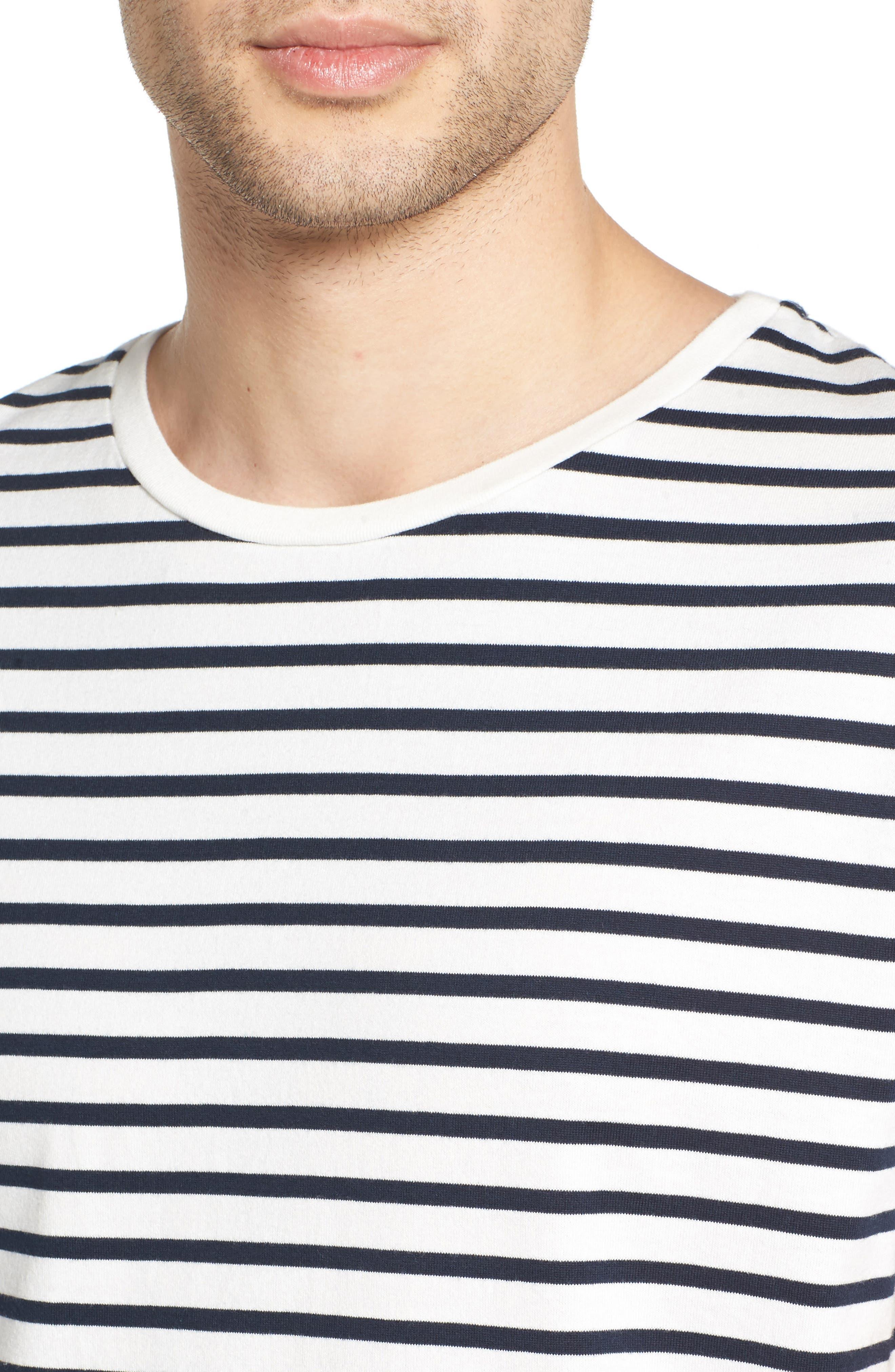 Julian Stripe Crewneck T-Shirt,                             Alternate thumbnail 7, color,