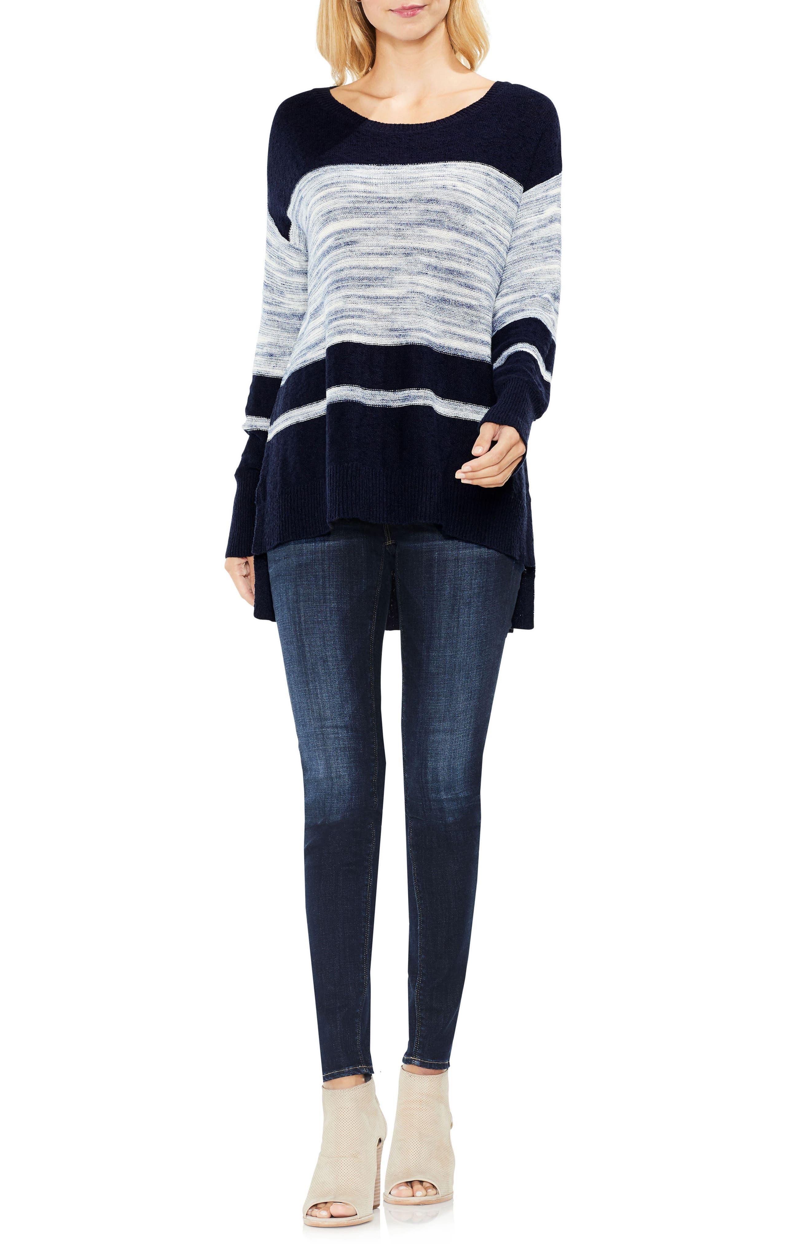 Space Dye Stripe Sweater,                             Alternate thumbnail 4, color,