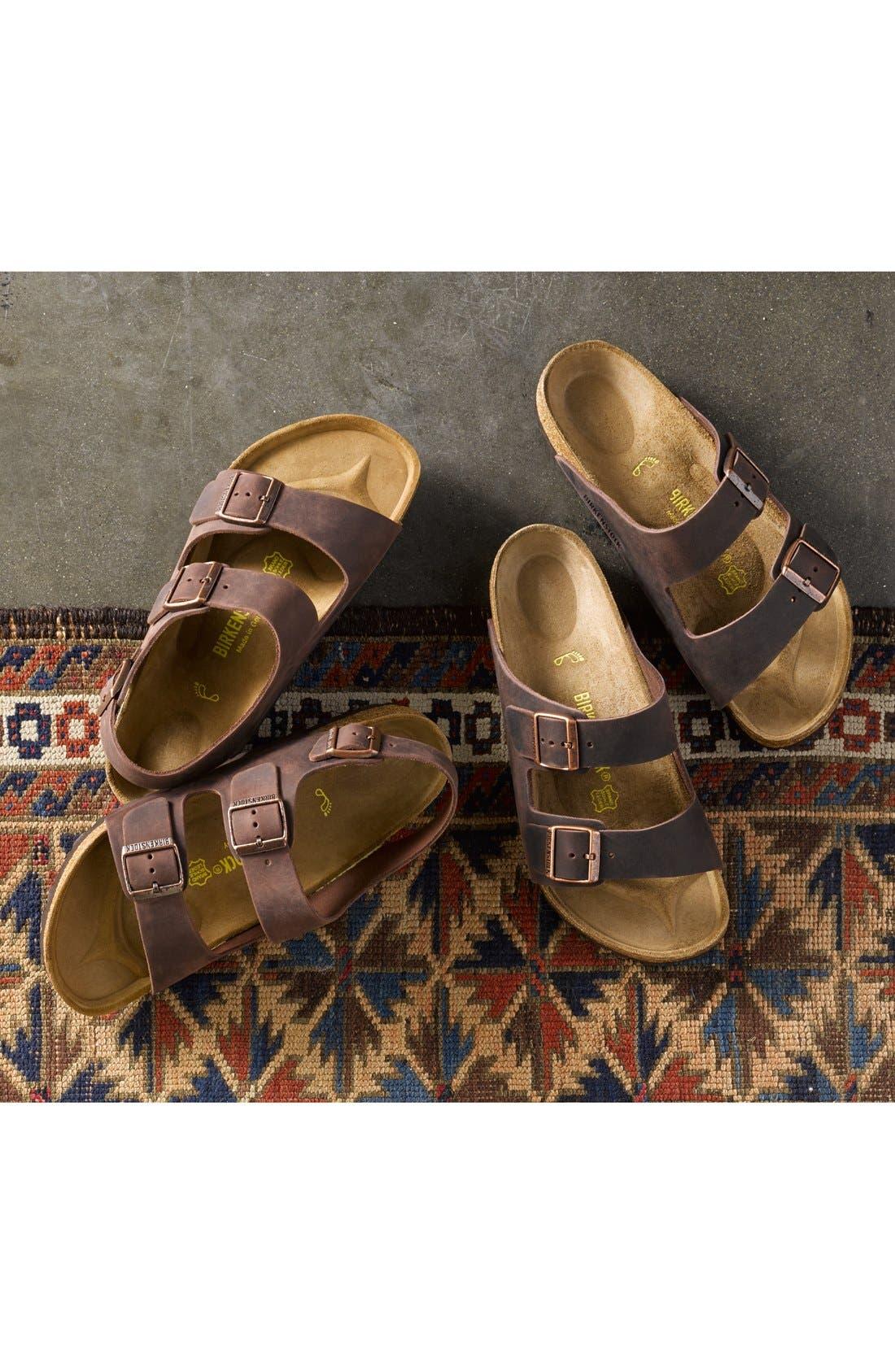 'Milano' Sandal,                             Alternate thumbnail 5, color,                             HABANA OILED