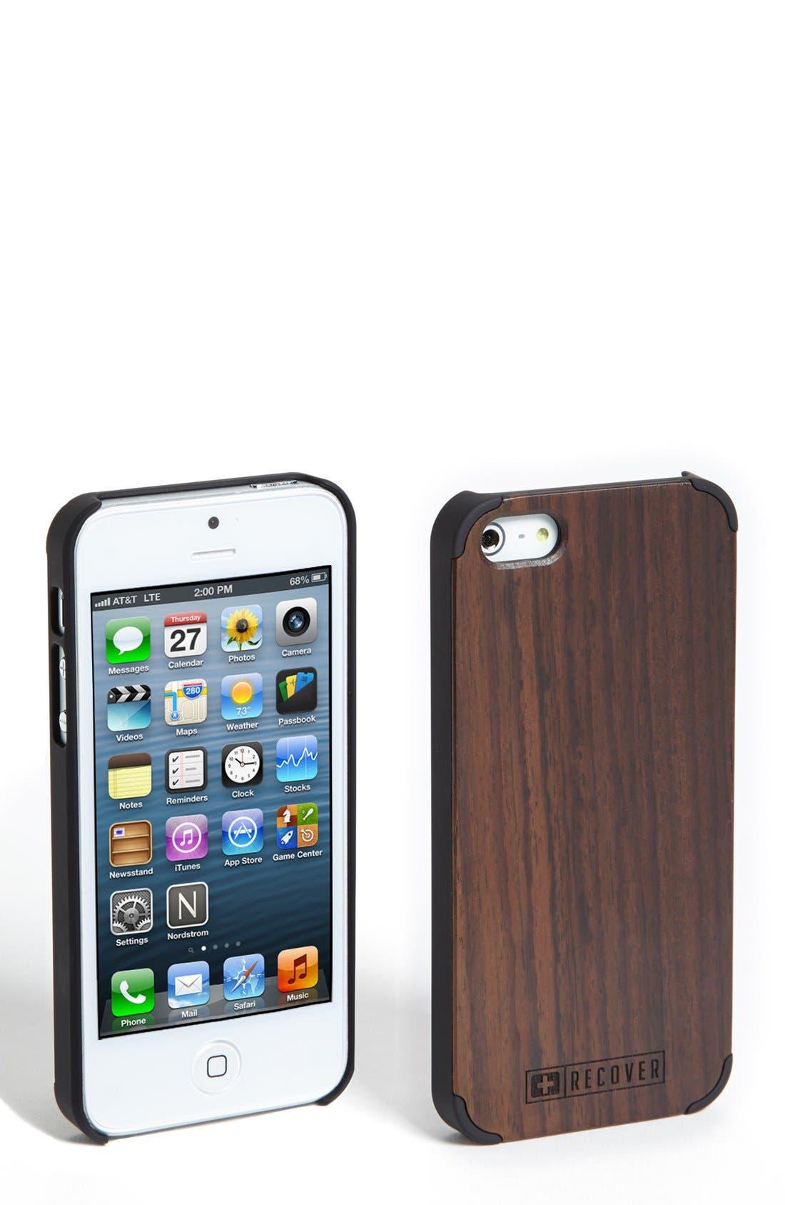 Ebony Wood iPhone 5 & 5s Case,                             Main thumbnail 1, color,                             200