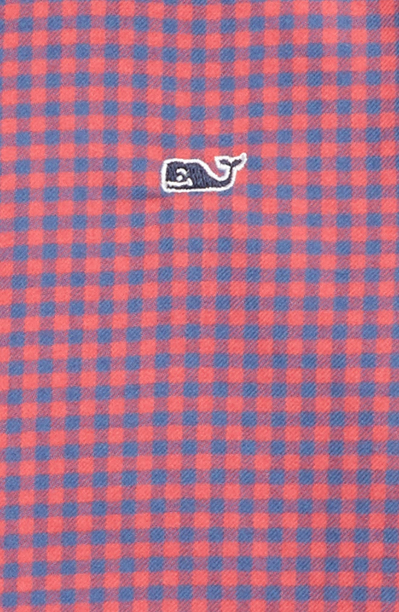 Trade Winds Flannel Whale Shirt,                             Alternate thumbnail 2, color,                             SAILORS RED
