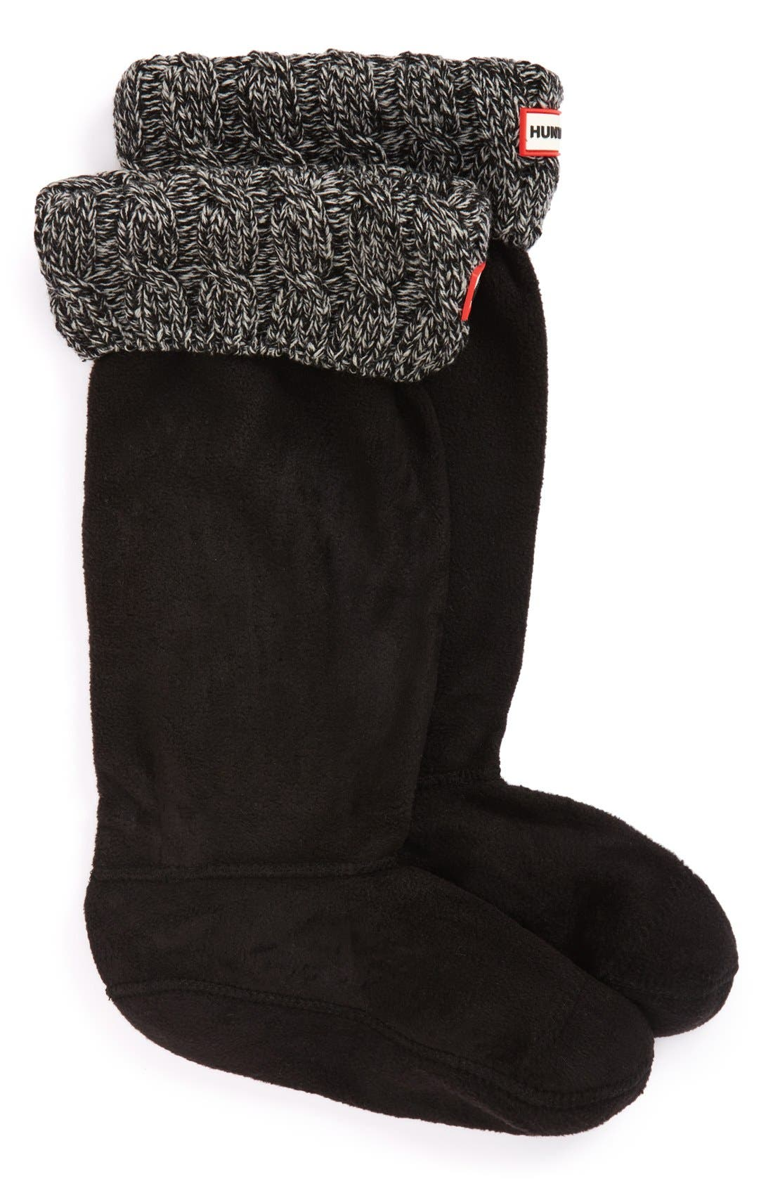 Original Tall Cable Knit Cuff Welly Boot Socks,                             Main thumbnail 4, color,