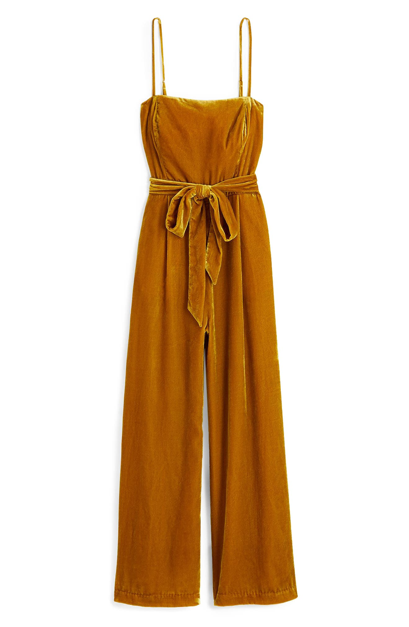 Velvet Jumpsuit with Tie,                             Alternate thumbnail 7, color,                             220