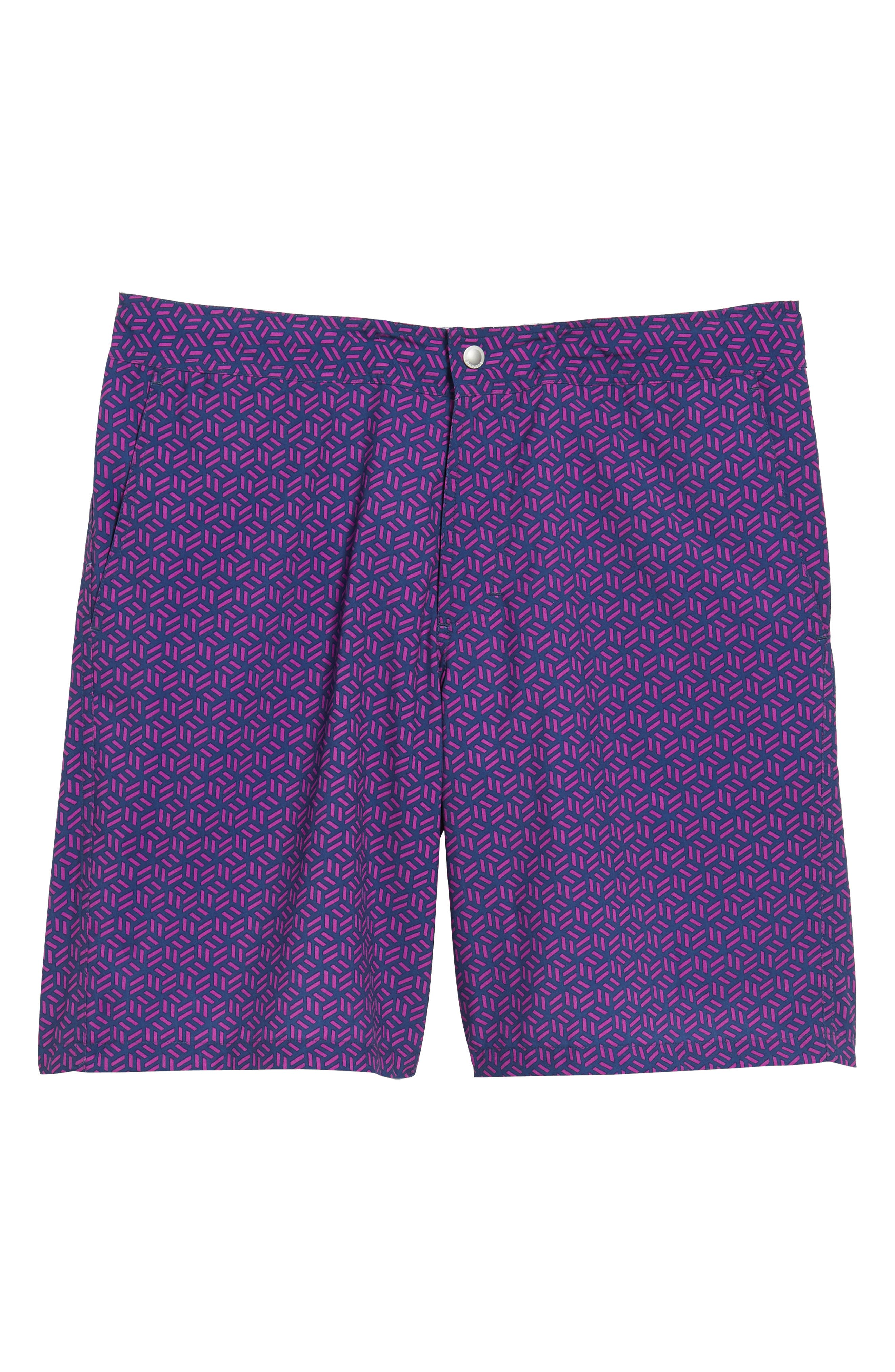 Geo Print 9-Inch Swim Trunks,                             Alternate thumbnail 6, color,                             400