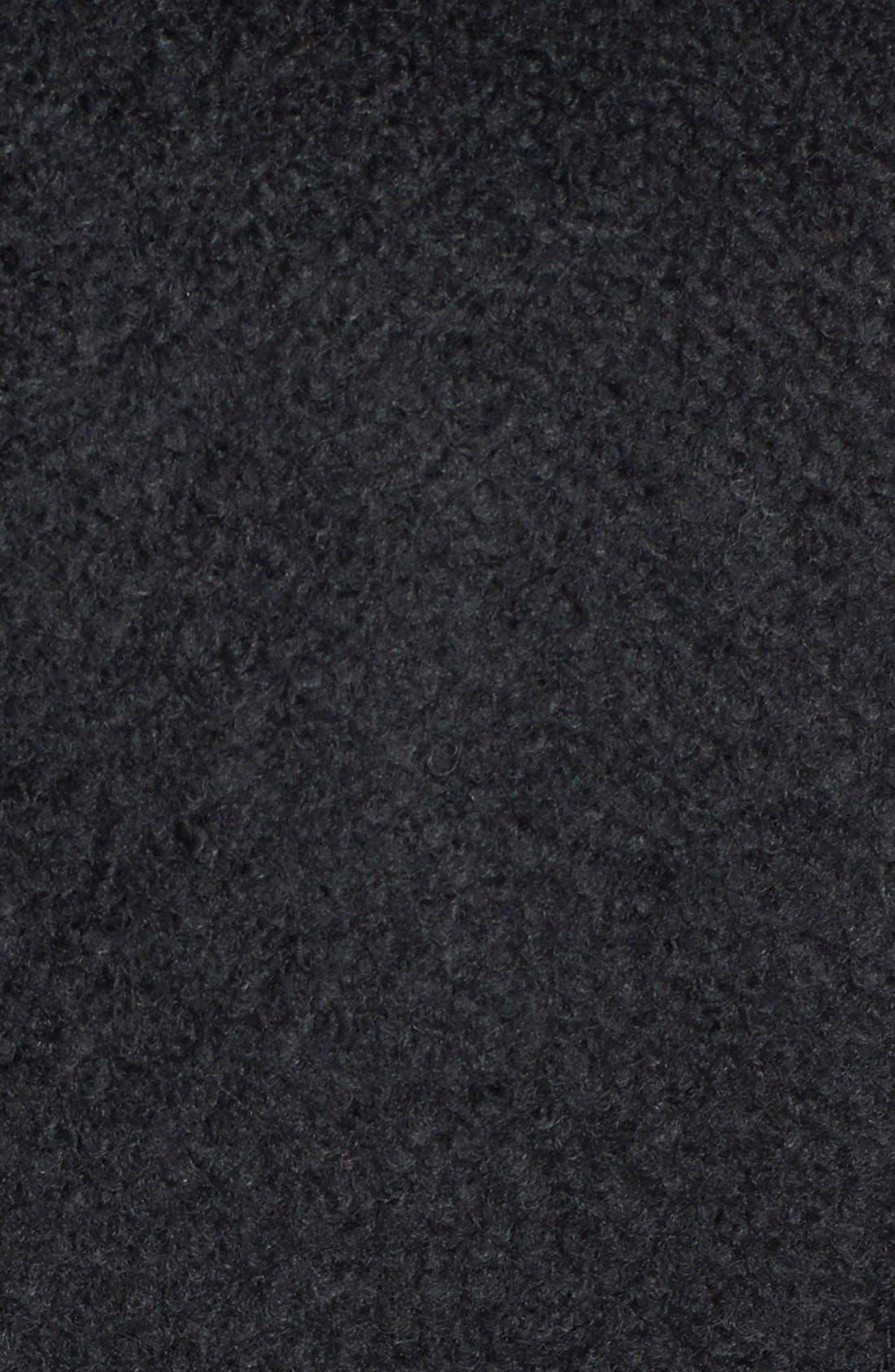 Double Breasted Bouclé Coat,                             Alternate thumbnail 3, color,                             001
