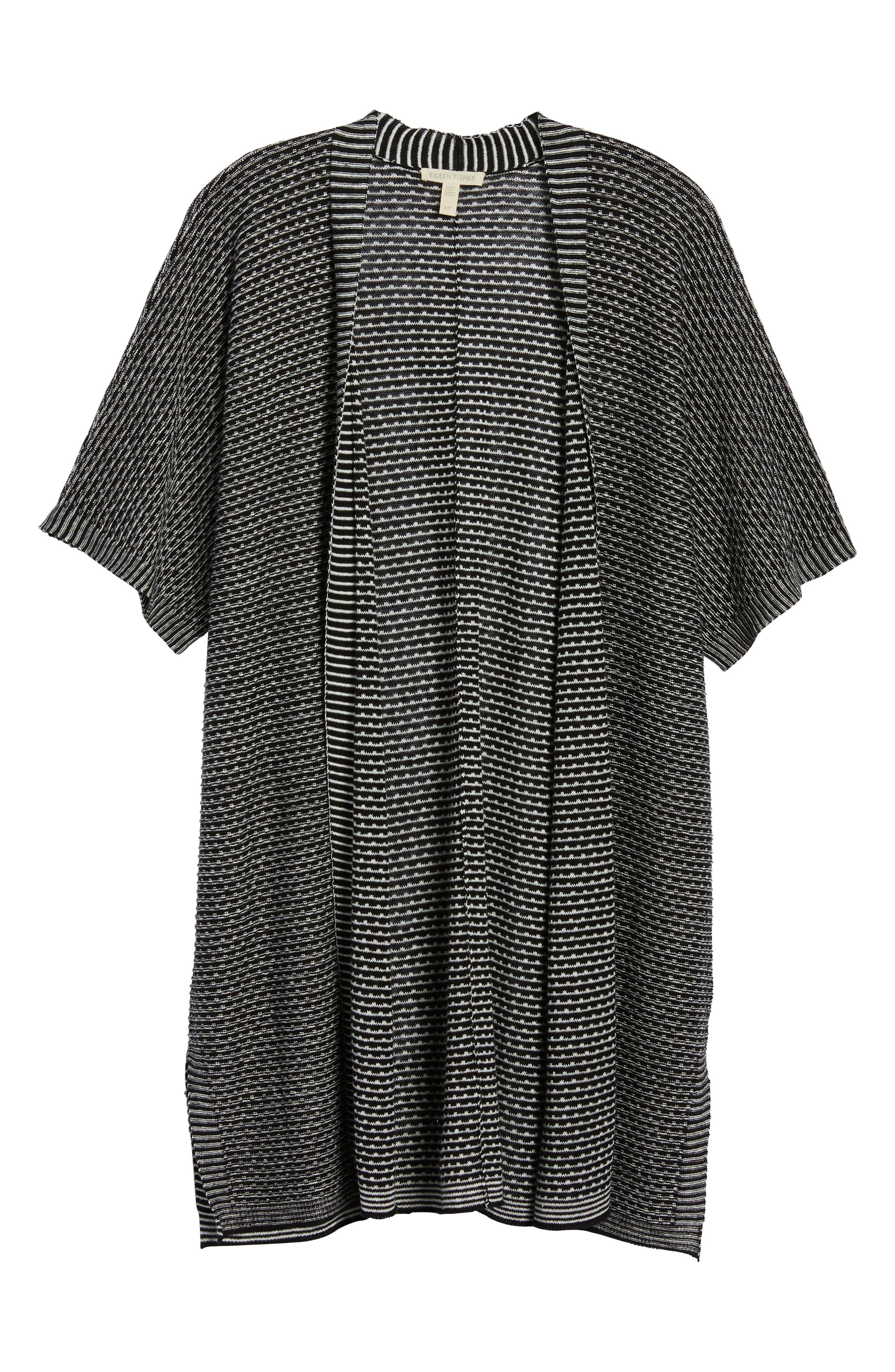 Organic Linen Kimono Cardigan,                             Alternate thumbnail 7, color,