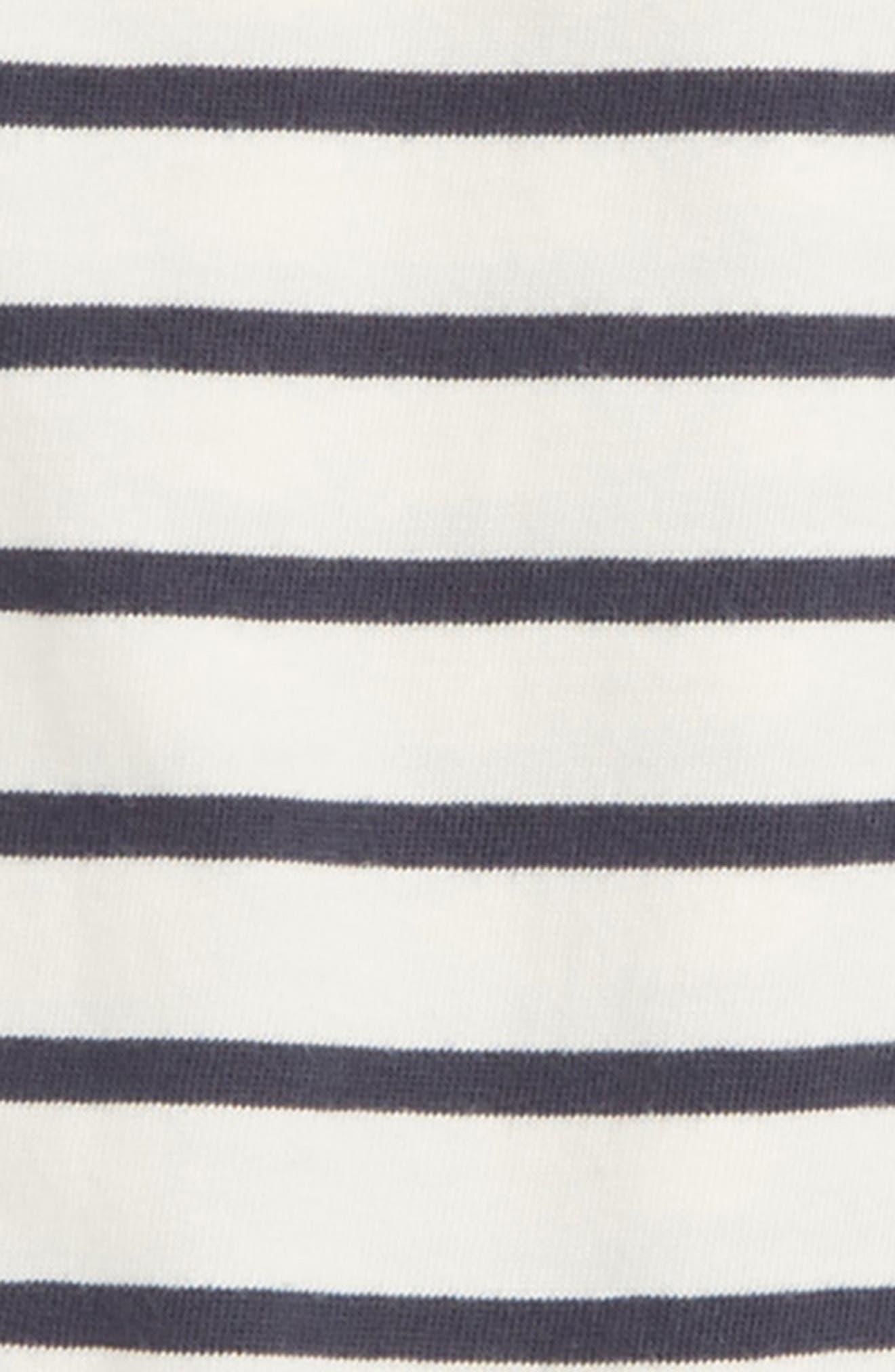 Stripe Ruffle Cotton Romper,                             Alternate thumbnail 2, color,                             103