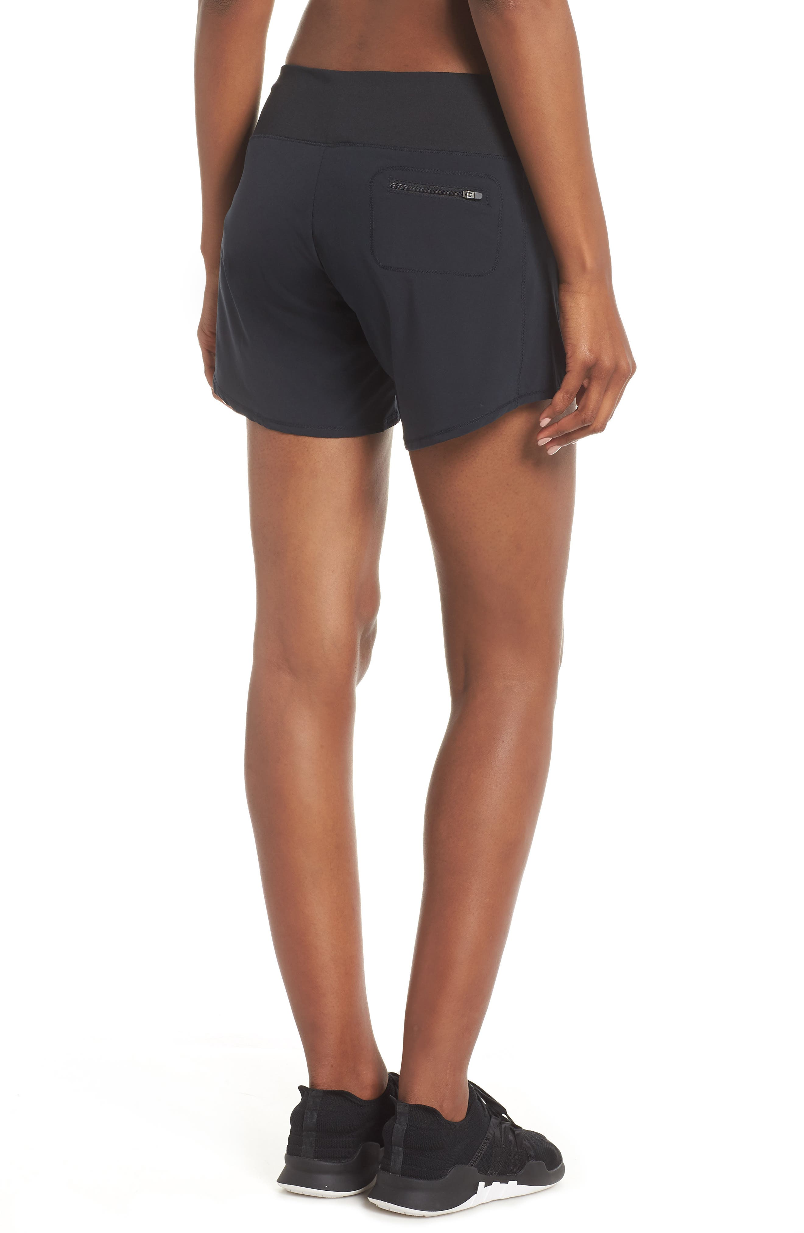 Long Roga Shorts,                             Alternate thumbnail 2, color,                             BLACK