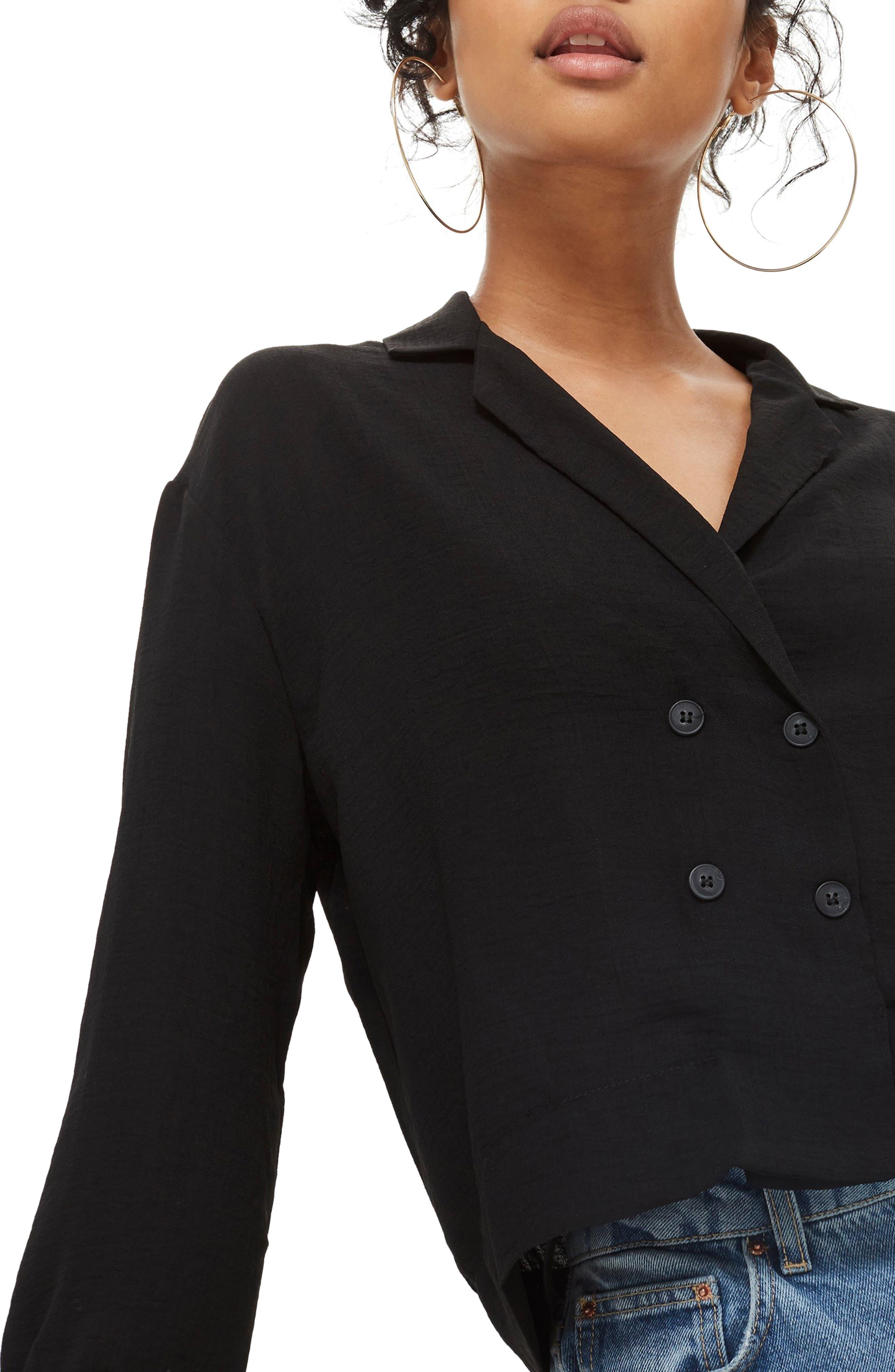 Taylor Button Down Blouse,                         Main,                         color, BLACK