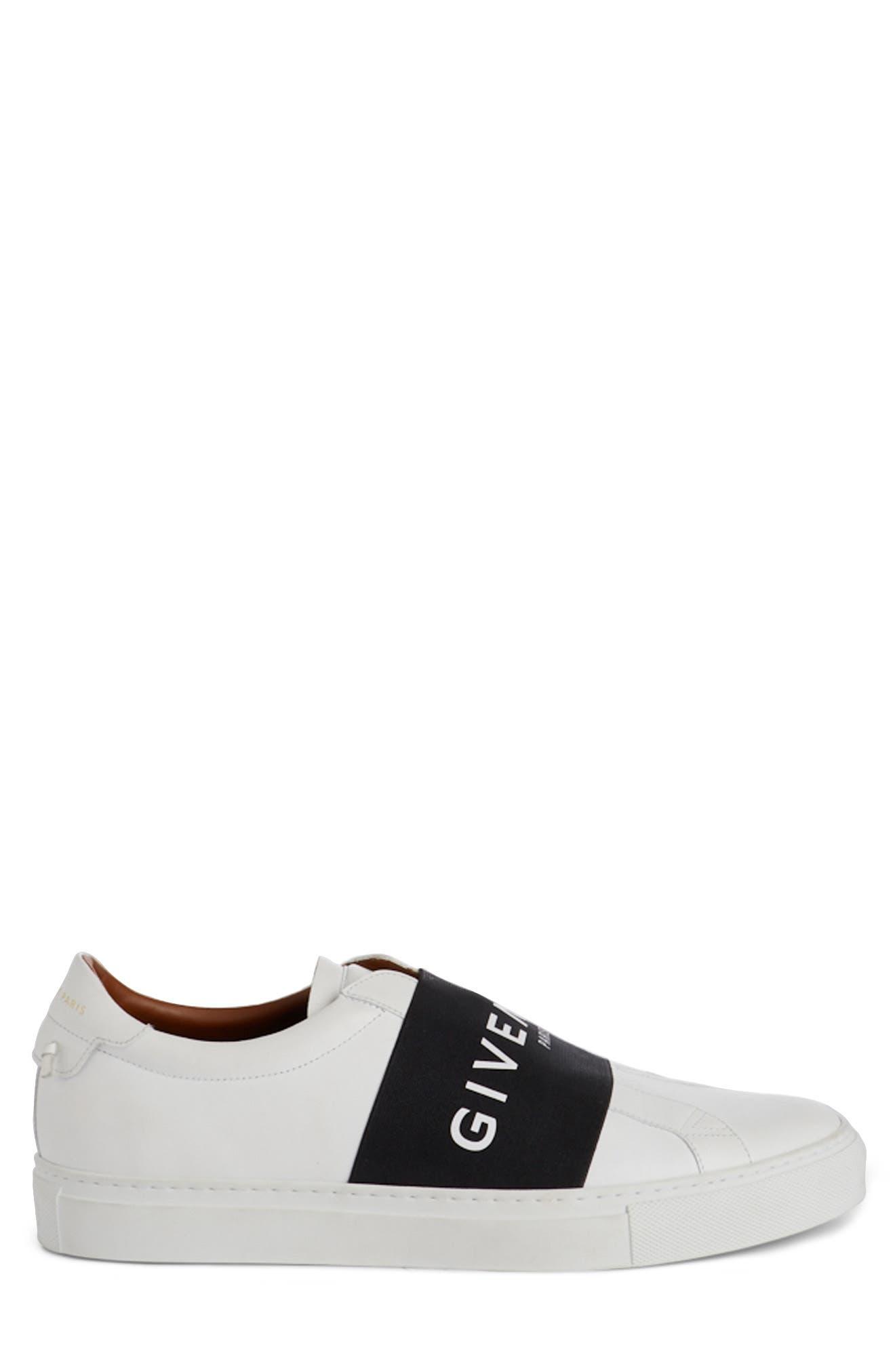 Logo Strap Slip-On Sneaker,                             Alternate thumbnail 3, color,                             WHITE/ BLACK