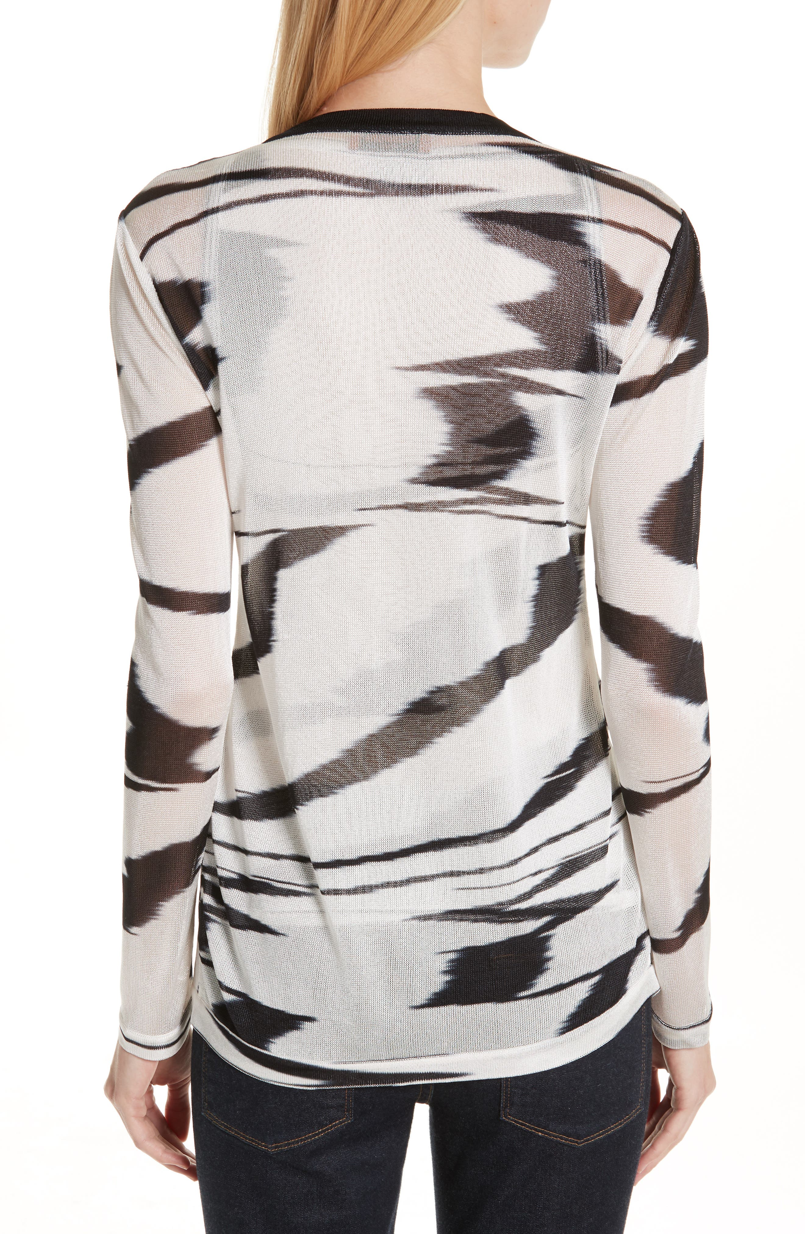 Space Dye Cardigan,                             Alternate thumbnail 2, color,                             F0009 BLACK/ WHITE