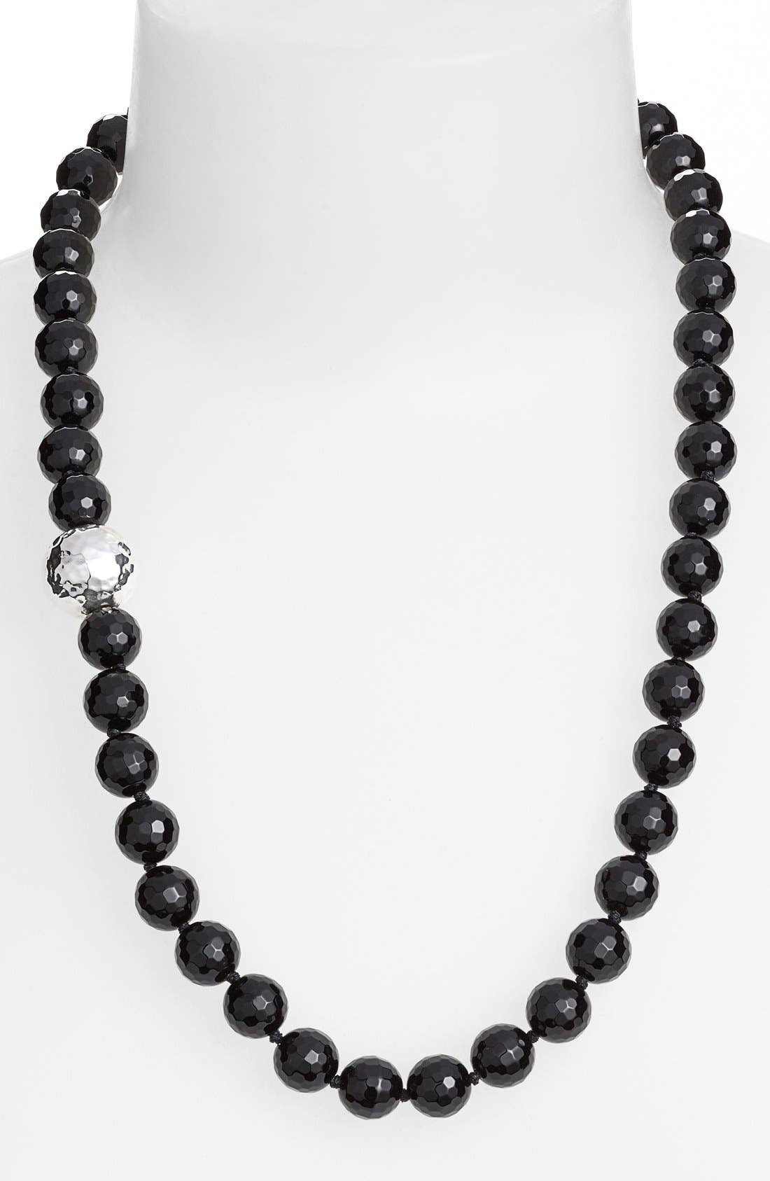 Stone Beaded Necklace,                             Main thumbnail 1, color,                             001