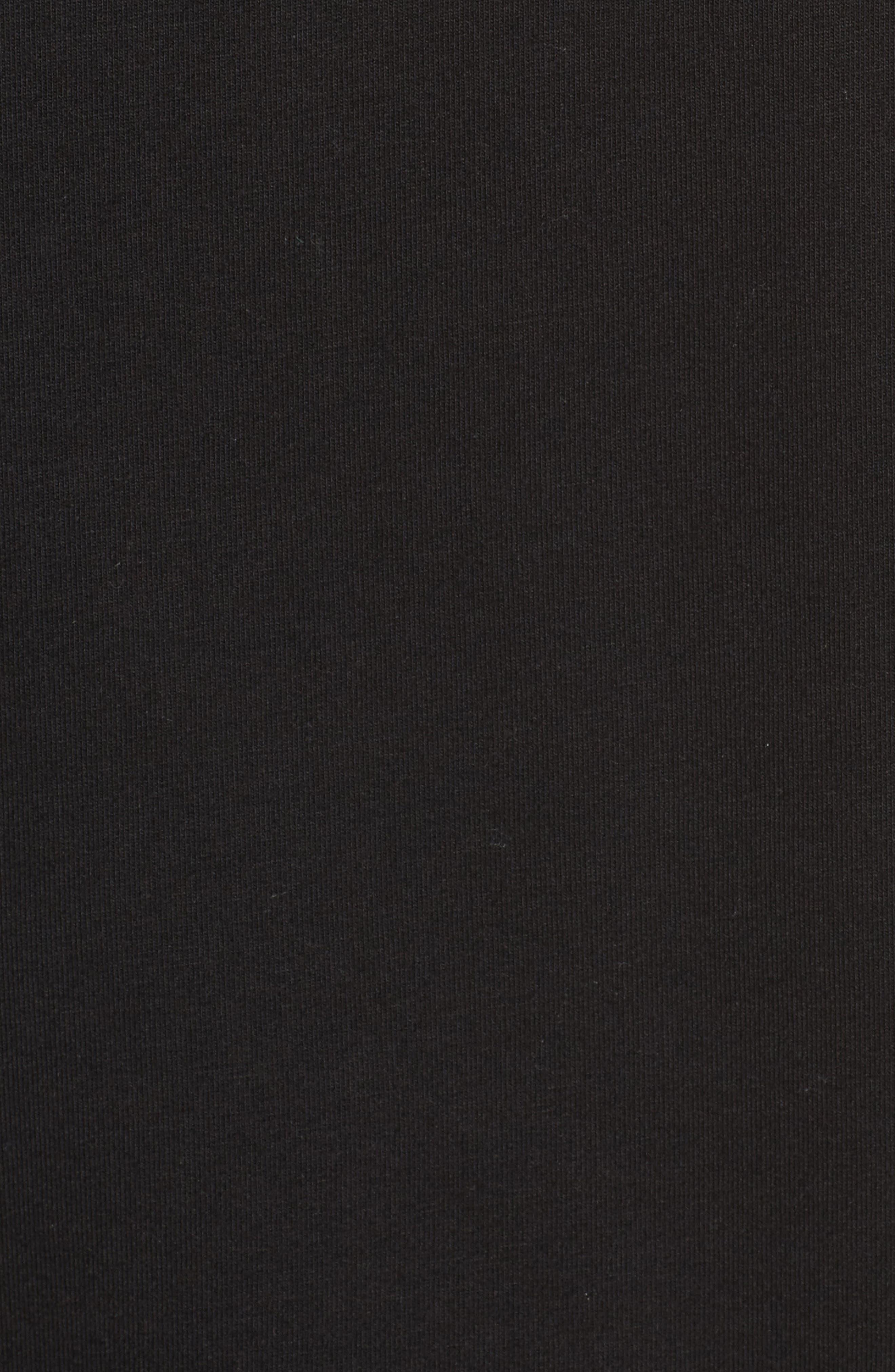 Poplin Ruffle Sleeve Sweatshirt,                             Alternate thumbnail 5, color,                             001