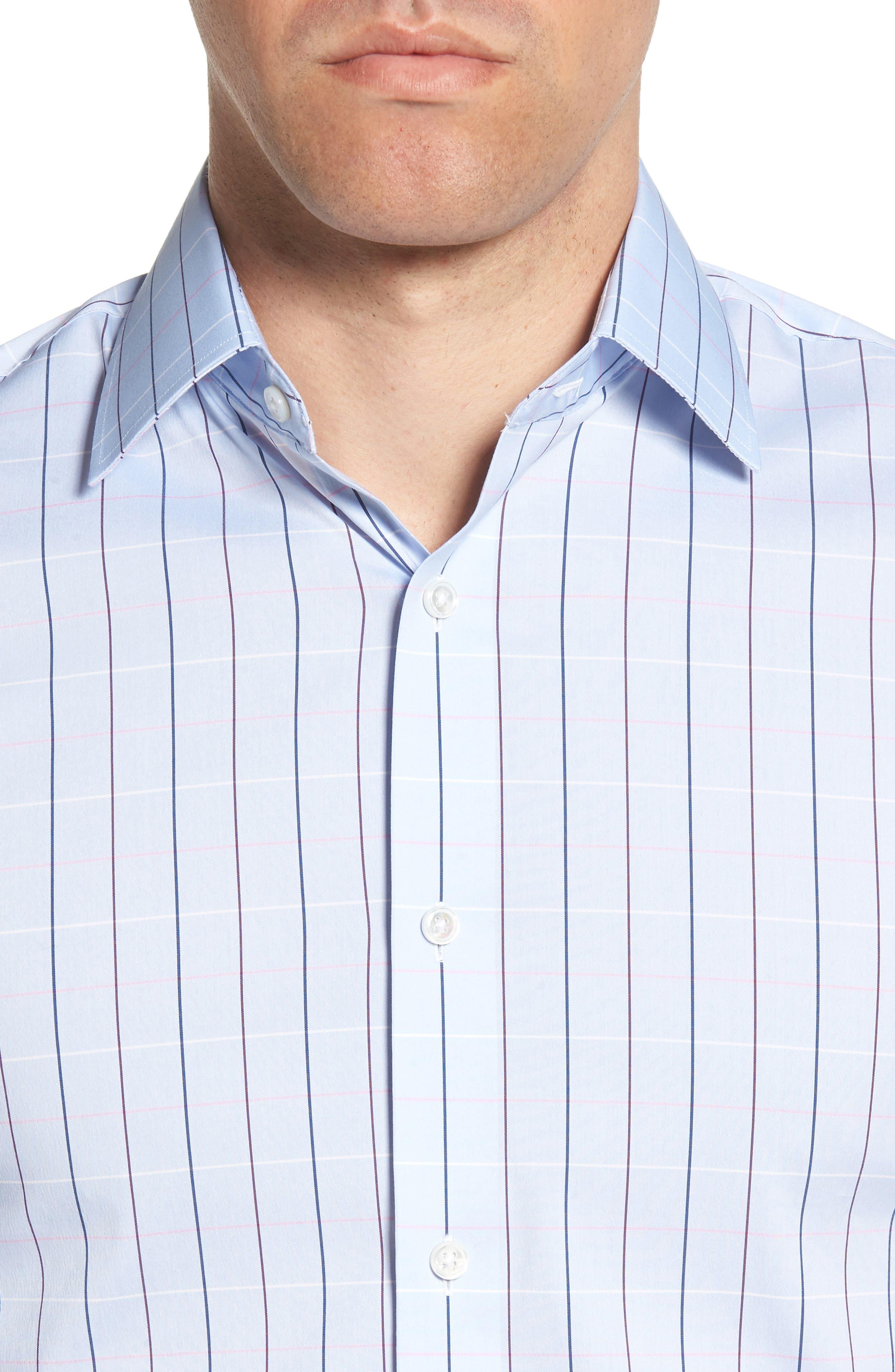 Jetsetter Slim Fit Stretch Check Dress Shirt,                             Alternate thumbnail 2, color,                             400
