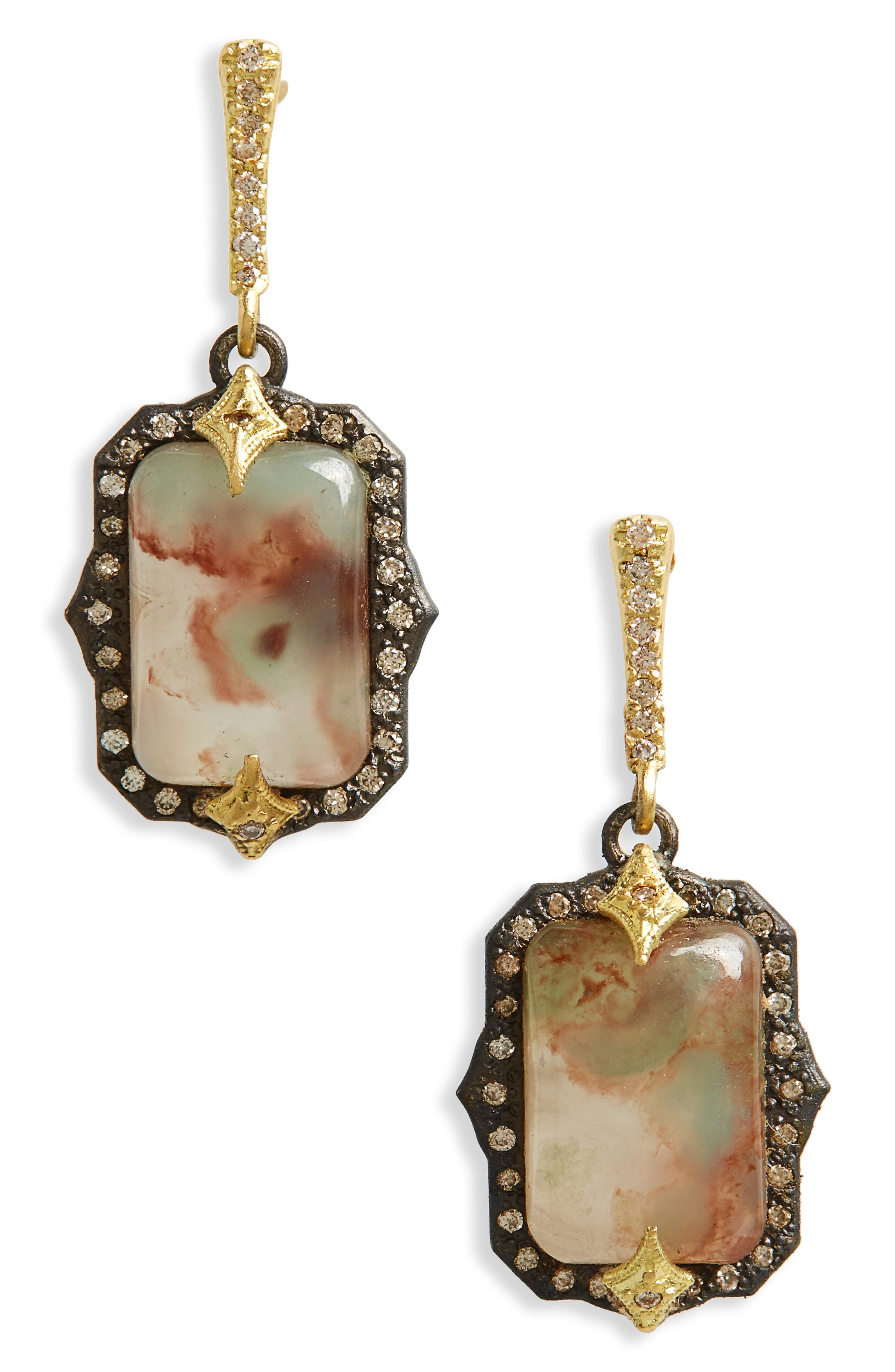 Old World Crivelli Drop Earrings,                             Main thumbnail 1, color,                             SILVER
