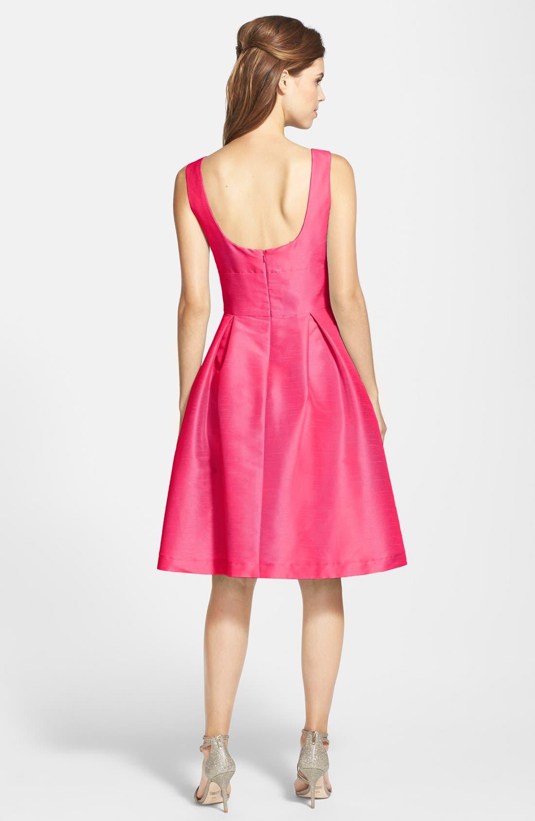 Dupioni Fit & Flare Dress,                             Alternate thumbnail 23, color,