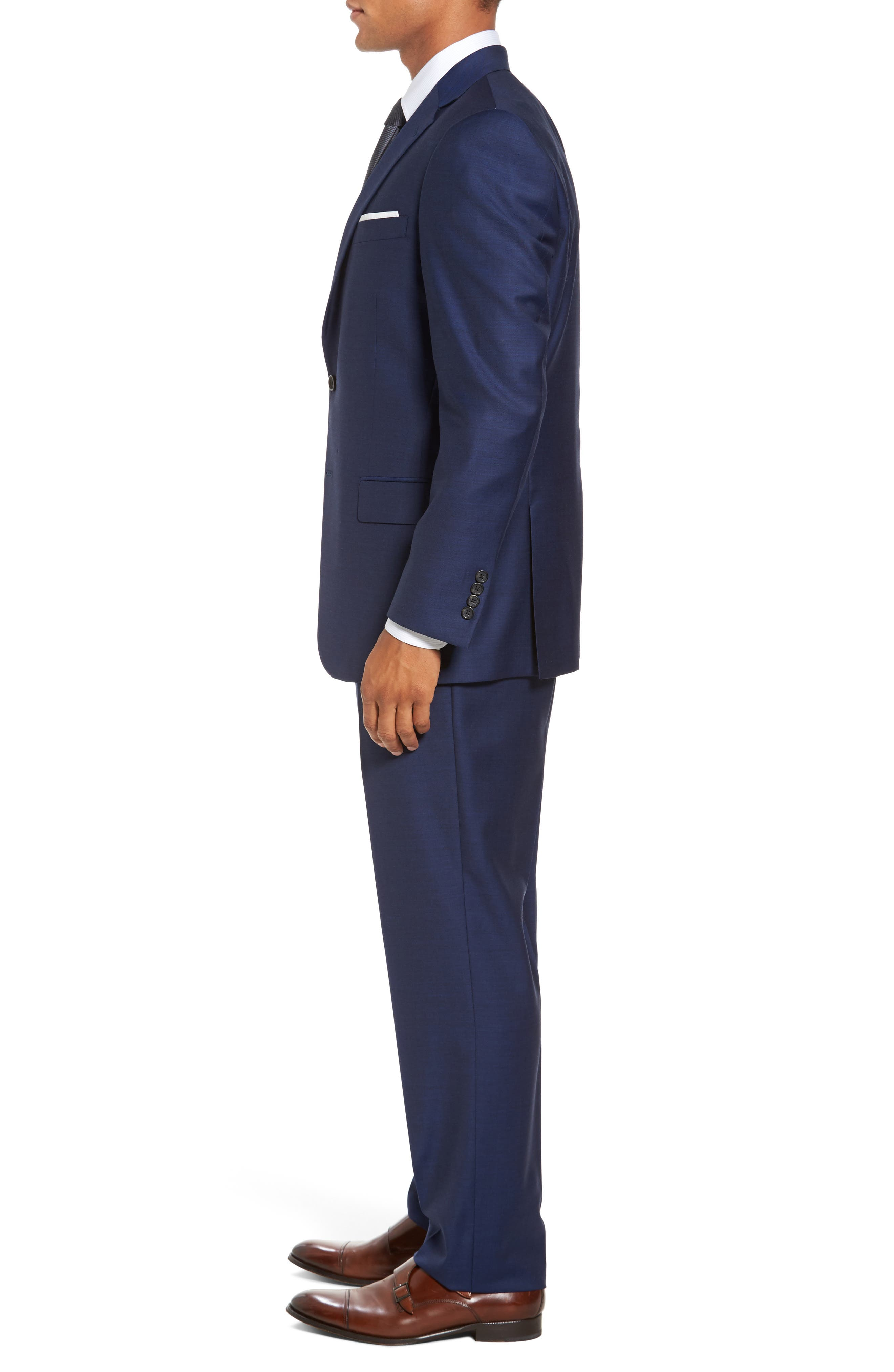 Classic Fit Solid Wool Suit,                             Alternate thumbnail 3, color,                             401